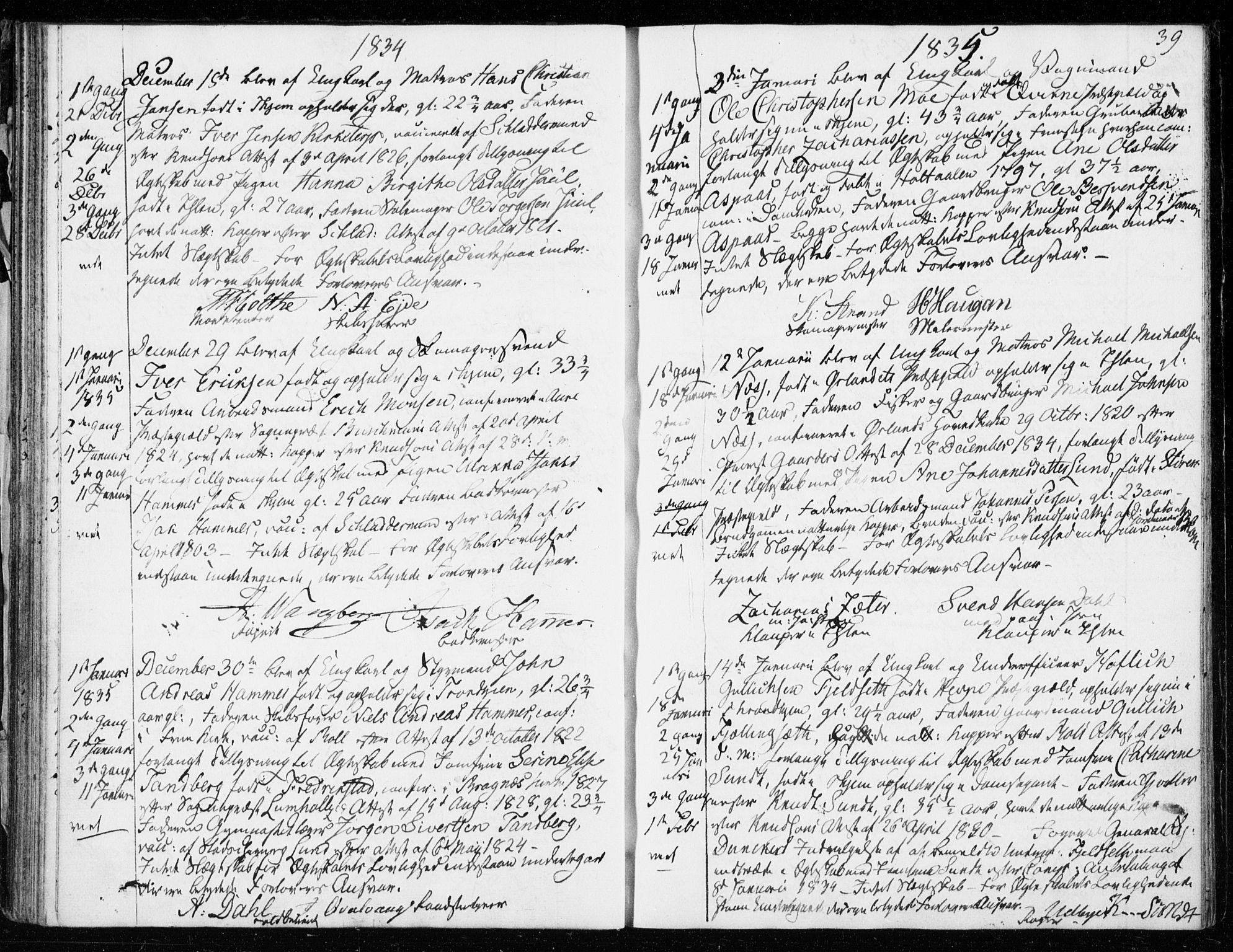 SAT, Ministerialprotokoller, klokkerbøker og fødselsregistre - Sør-Trøndelag, 601/L0046: Ministerialbok nr. 601A14, 1830-1841, s. 39