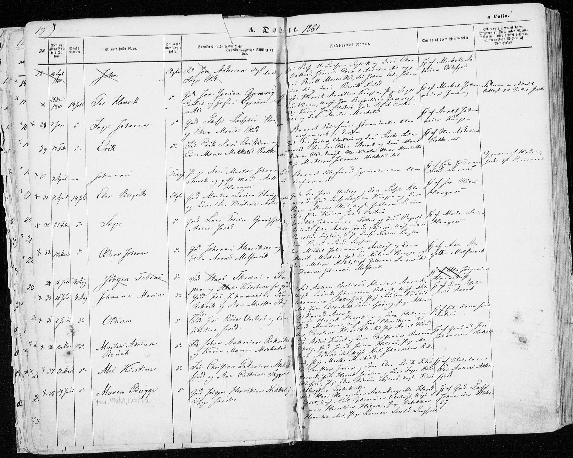 SATØ, Skjervøy sokneprestkontor, H/Ha/Haa/L0007kirke: Ministerialbok nr. 7, 1860-1870, s. 13