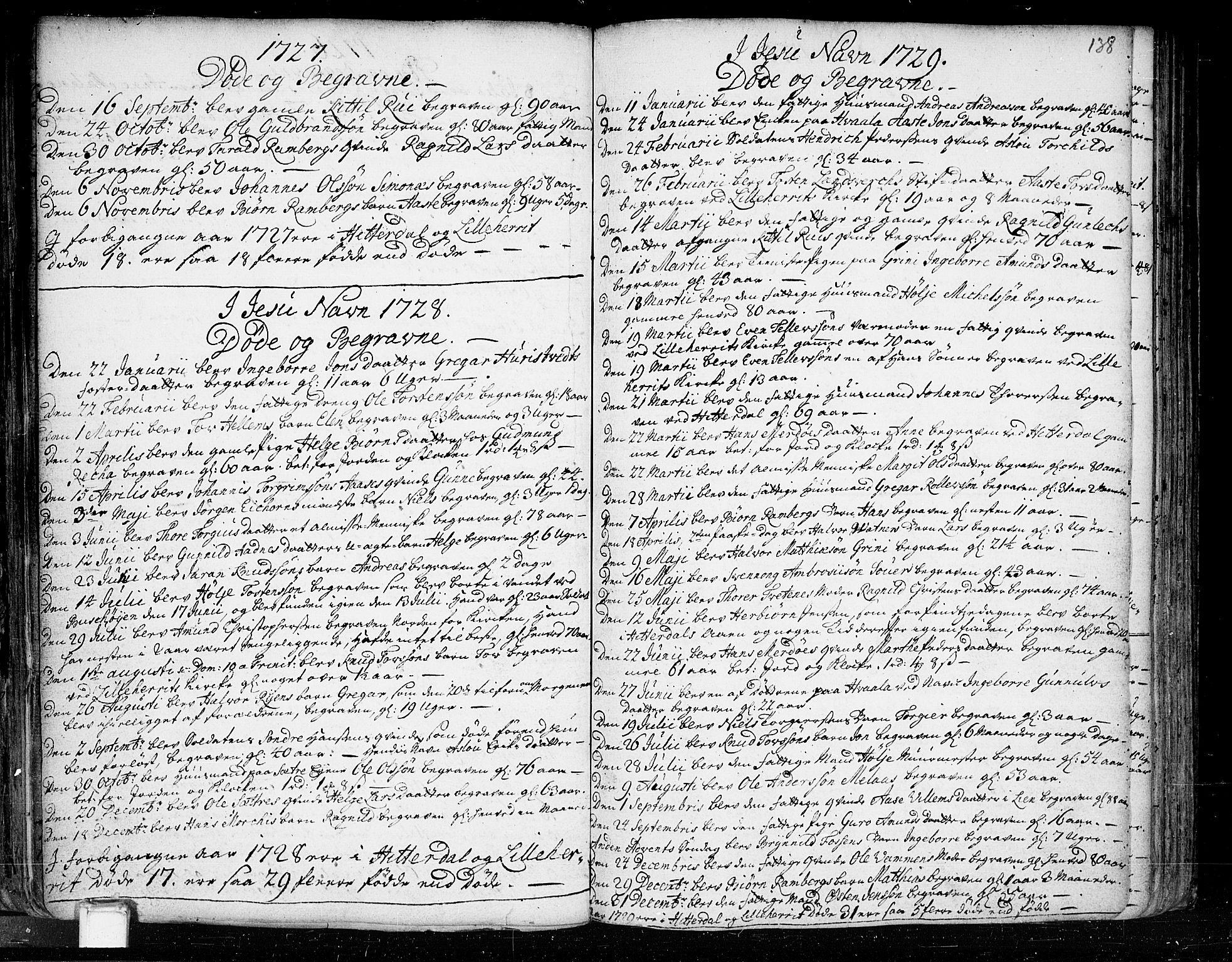 SAKO, Heddal kirkebøker, F/Fa/L0003: Ministerialbok nr. I 3, 1723-1783, s. 138
