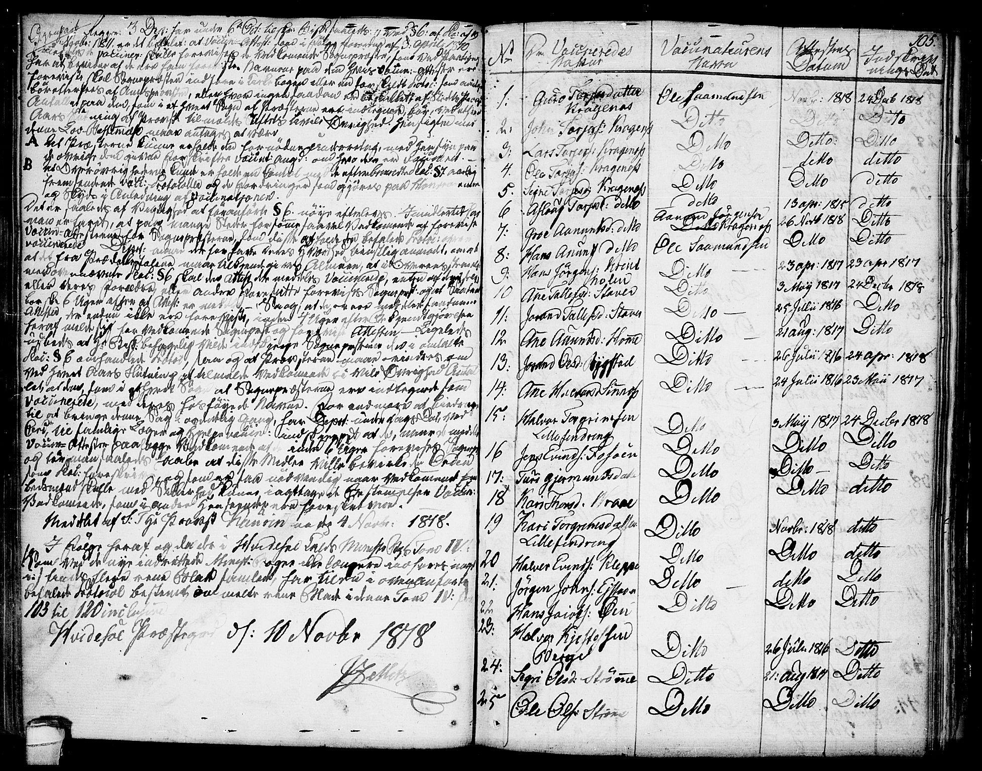 SAKO, Kviteseid kirkebøker, F/Fa/L0004: Ministerialbok nr. I 4, 1800-1814, s. 105