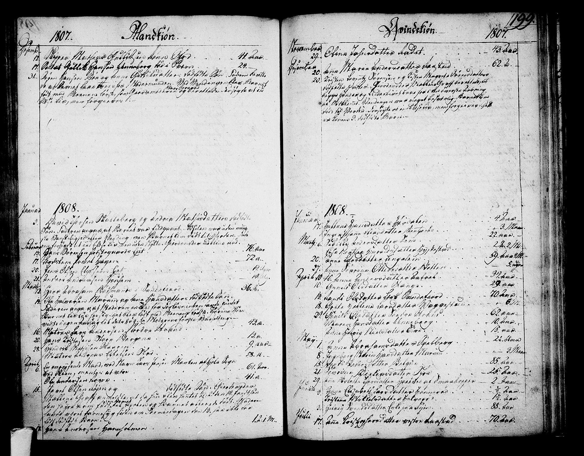SAKO, Sandar kirkebøker, F/Fa/L0003: Ministerialbok nr. 3, 1789-1814, s. 199