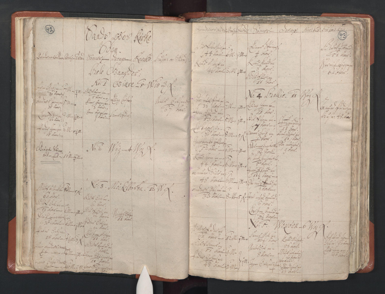 RA, Sogneprestenes manntall 1664-1666, nr. 26: Sunnmøre prosti, 1664-1666, s. 42-43