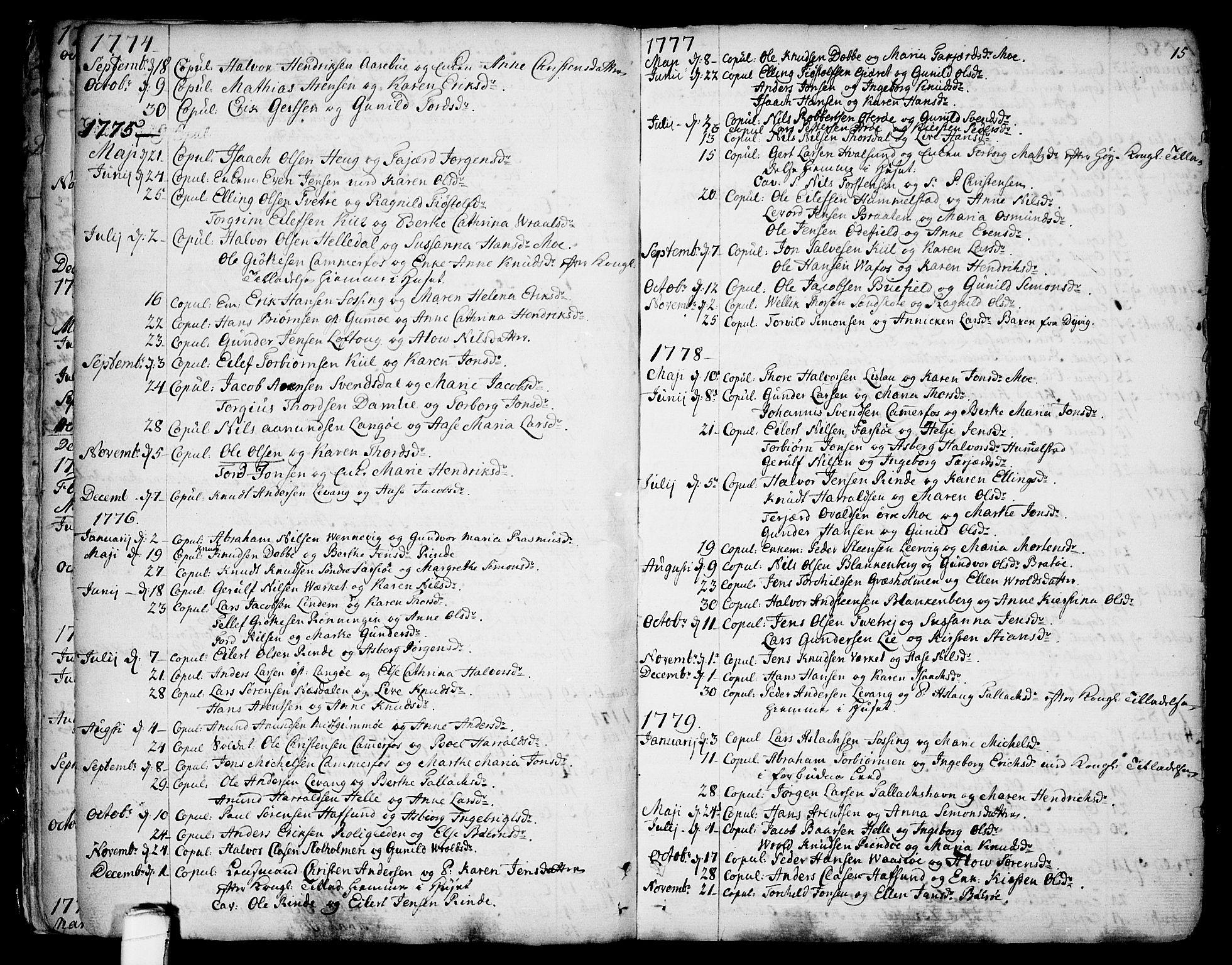SAKO, Sannidal kirkebøker, F/Fa/L0002: Ministerialbok nr. 2, 1767-1802, s. 15