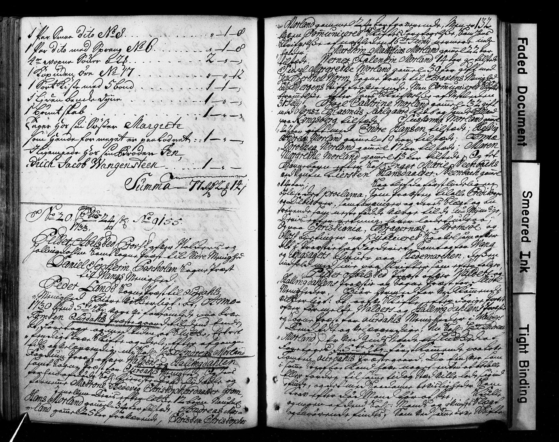 SAH, Valdres og Hallingdal prosti, G/Ga/L0001: Skifteprotokoll, geistlige skifter, 1716-1736, s. 131b-132a