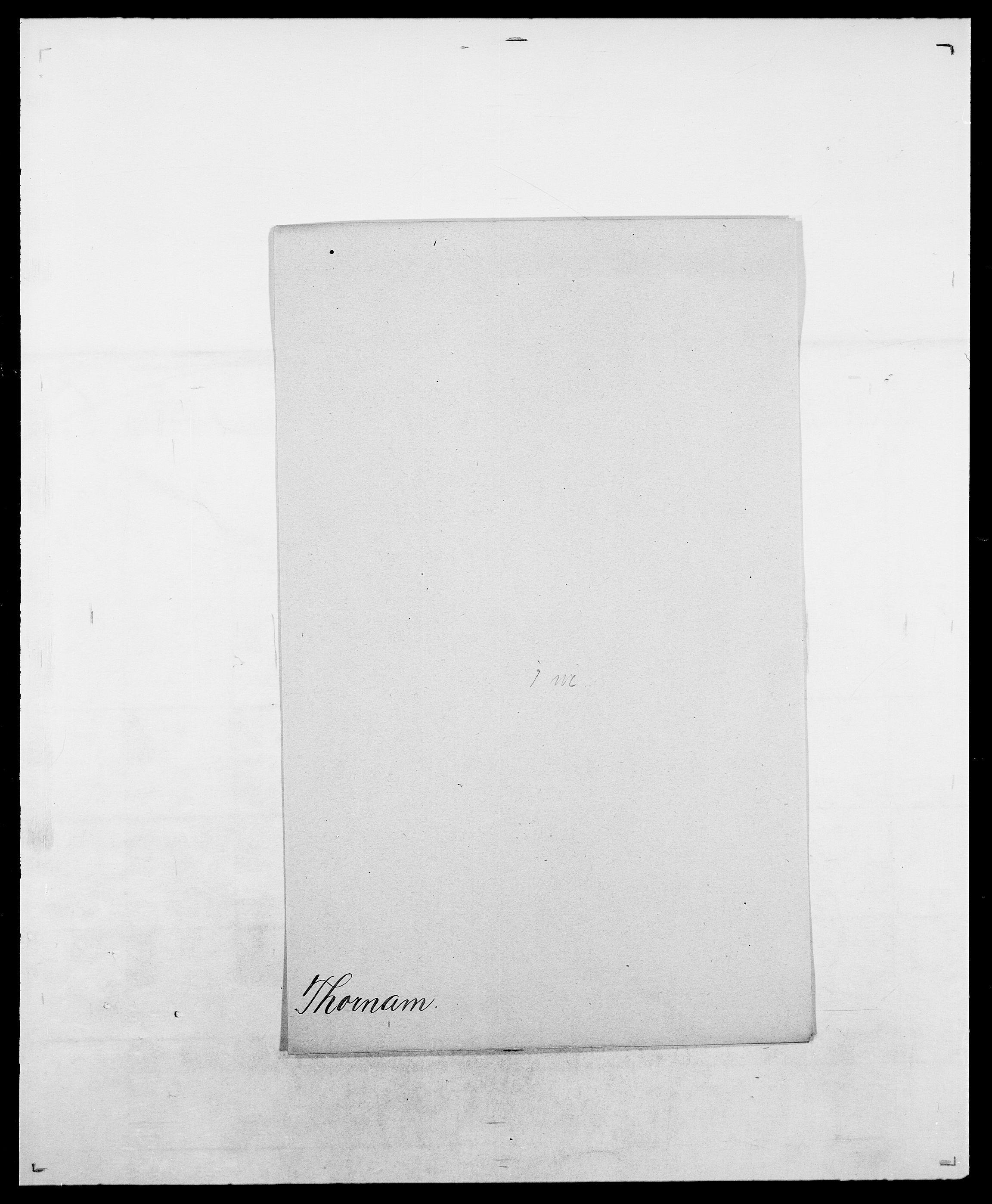 SAO, Delgobe, Charles Antoine - samling, D/Da/L0038: Svanenskjold - Thornsohn, s. 883