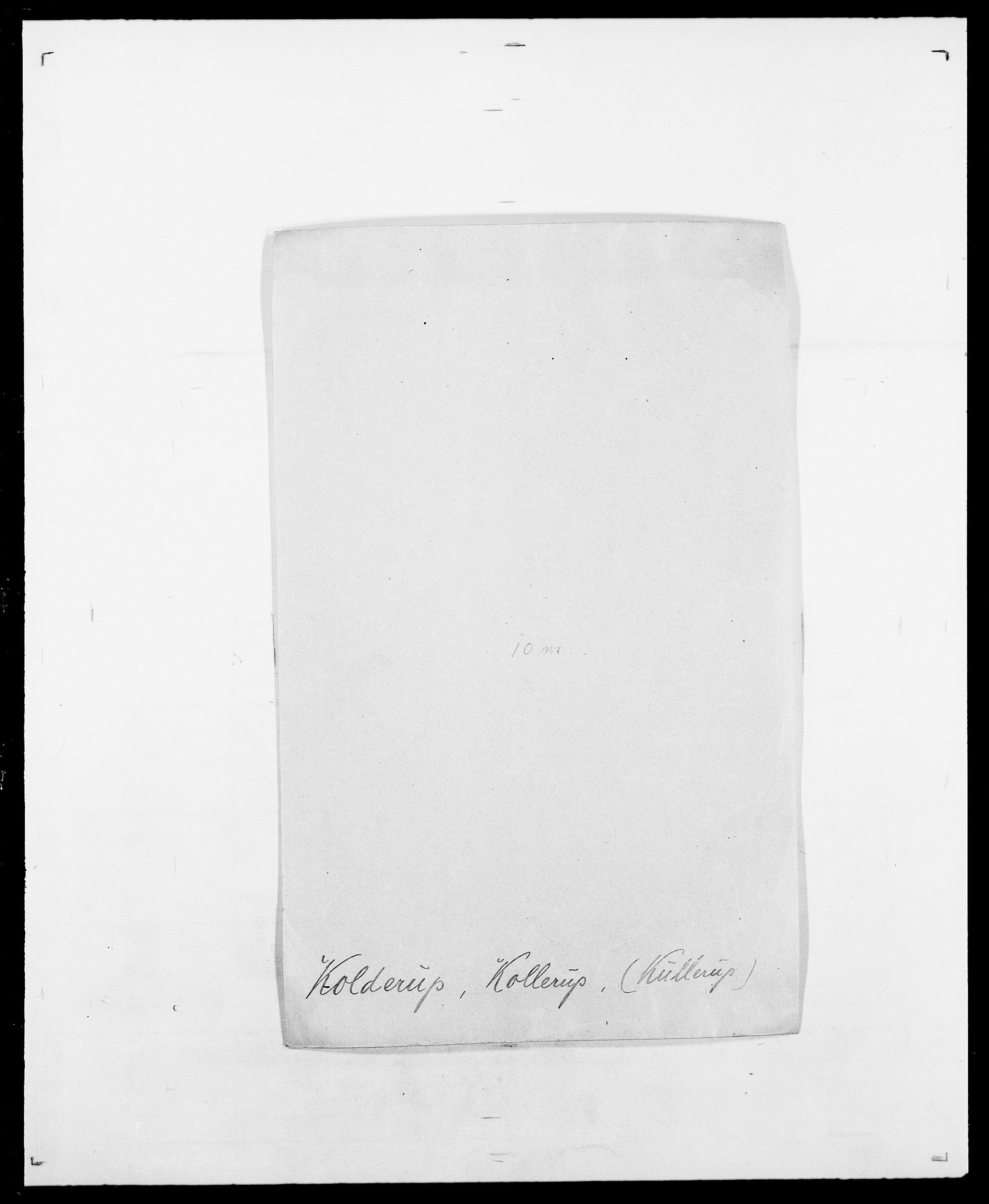 SAO, Delgobe, Charles Antoine - samling, D/Da/L0021: Klagenberg - Kristoft, s. 487