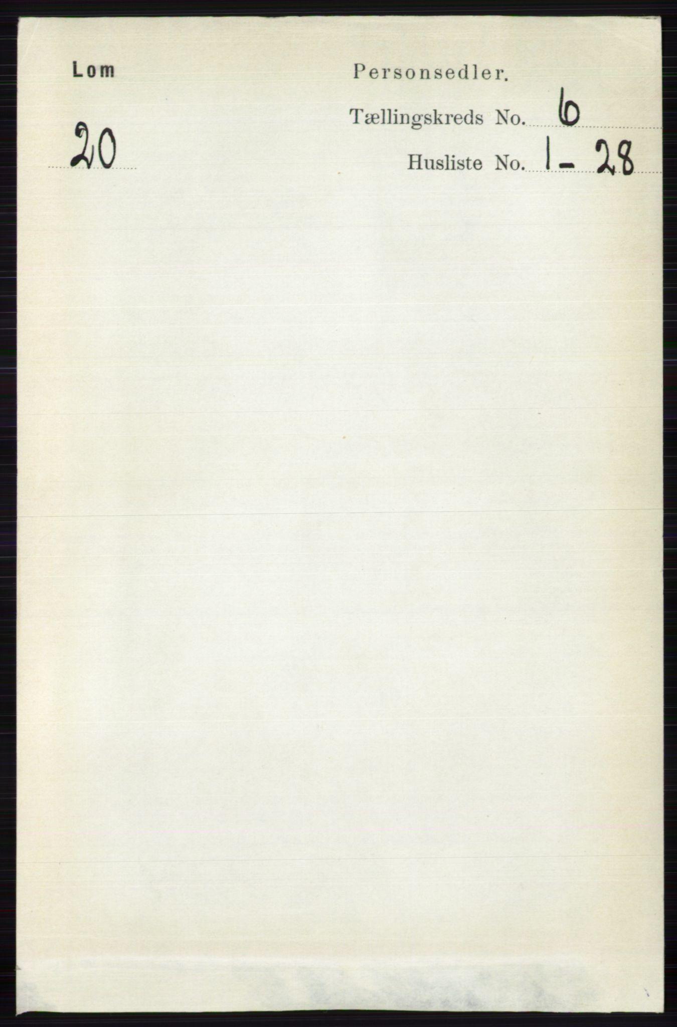 RA, Folketelling 1891 for 0514 Lom herred, 1891, s. 2369