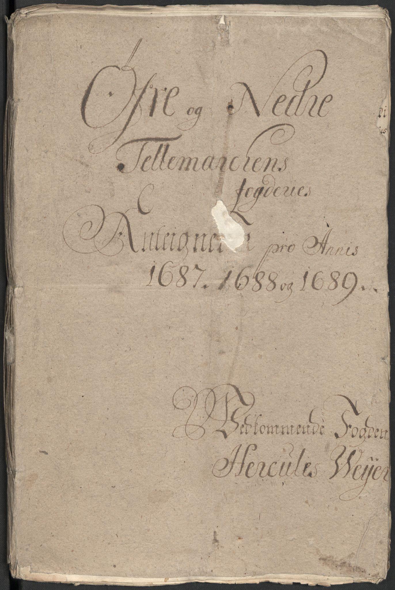 RA, Rentekammeret inntil 1814, Reviderte regnskaper, Fogderegnskap, R35/L2088: Fogderegnskap Øvre og Nedre Telemark, 1687-1689, s. 175