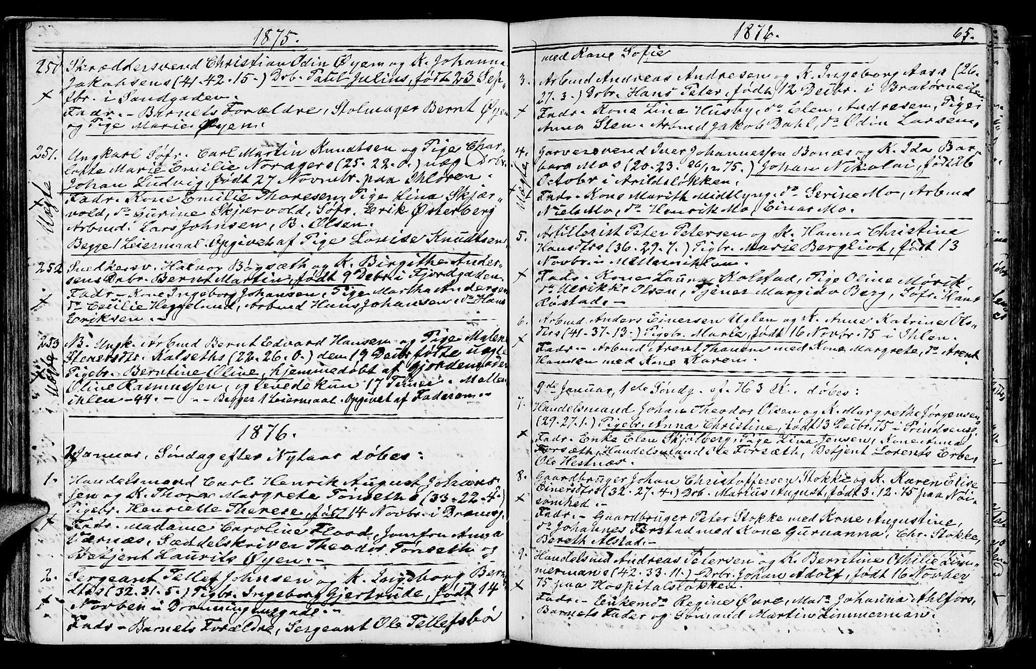 SAT, Ministerialprotokoller, klokkerbøker og fødselsregistre - Sør-Trøndelag, 602/L0142: Klokkerbok nr. 602C10, 1872-1894, s. 65