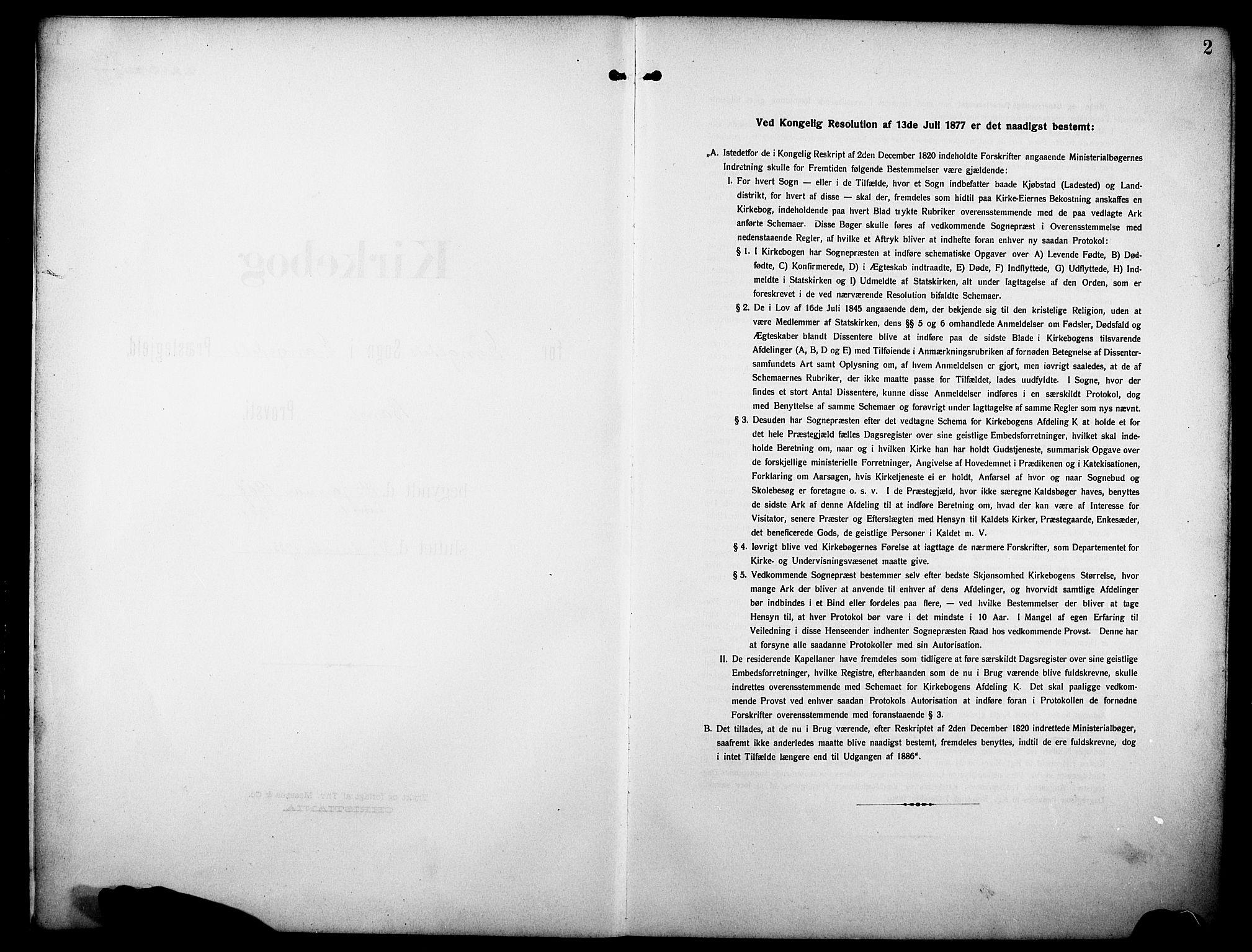 SAKO, Drangedal kirkebøker, G/Ga/L0004: Klokkerbok nr. I 4, 1901-1933, s. 2