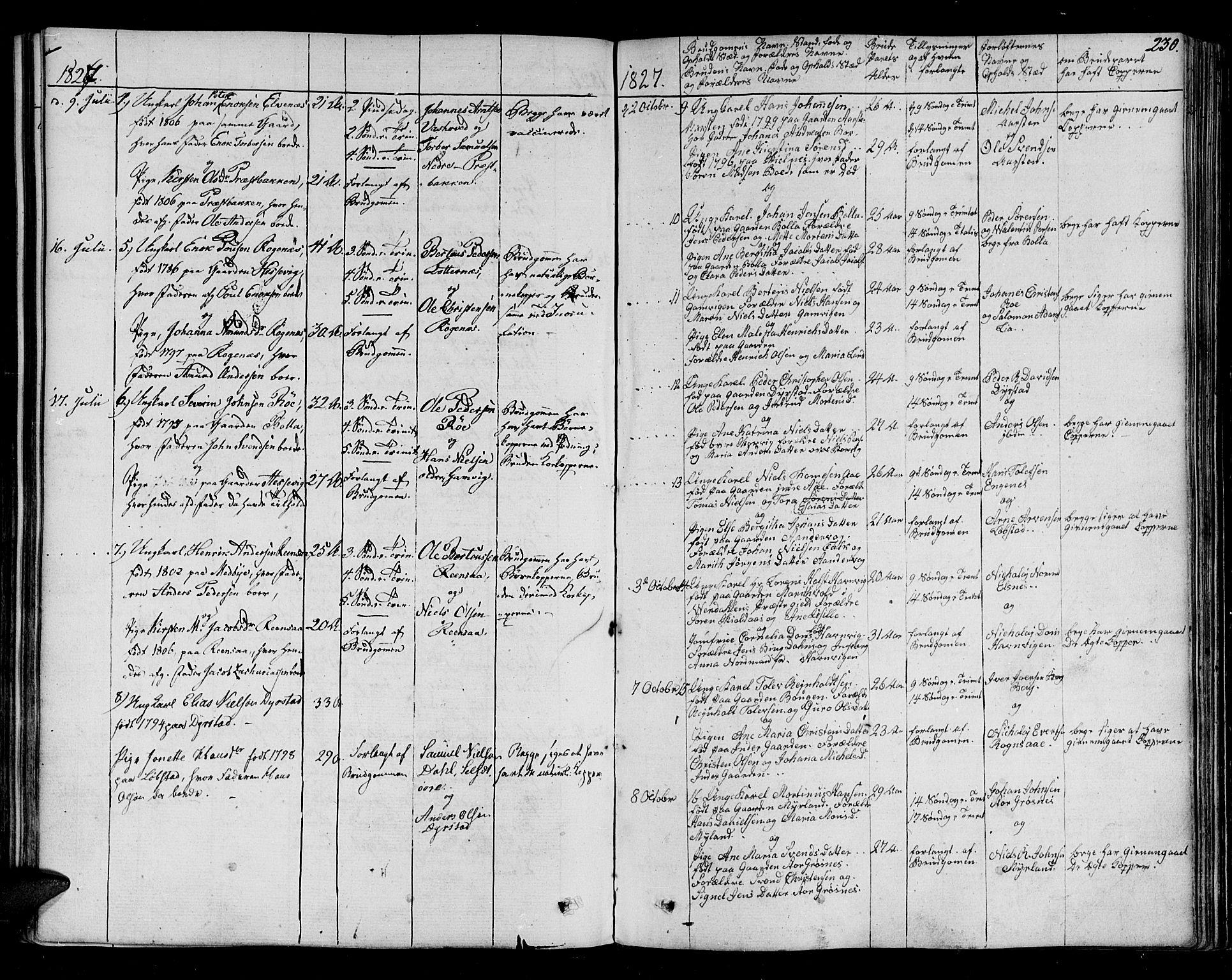 SATØ, Ibestad sokneprestembete, H/Ha/Haa/L0005kirke: Ministerialbok nr. 5, 1825-1836, s. 230
