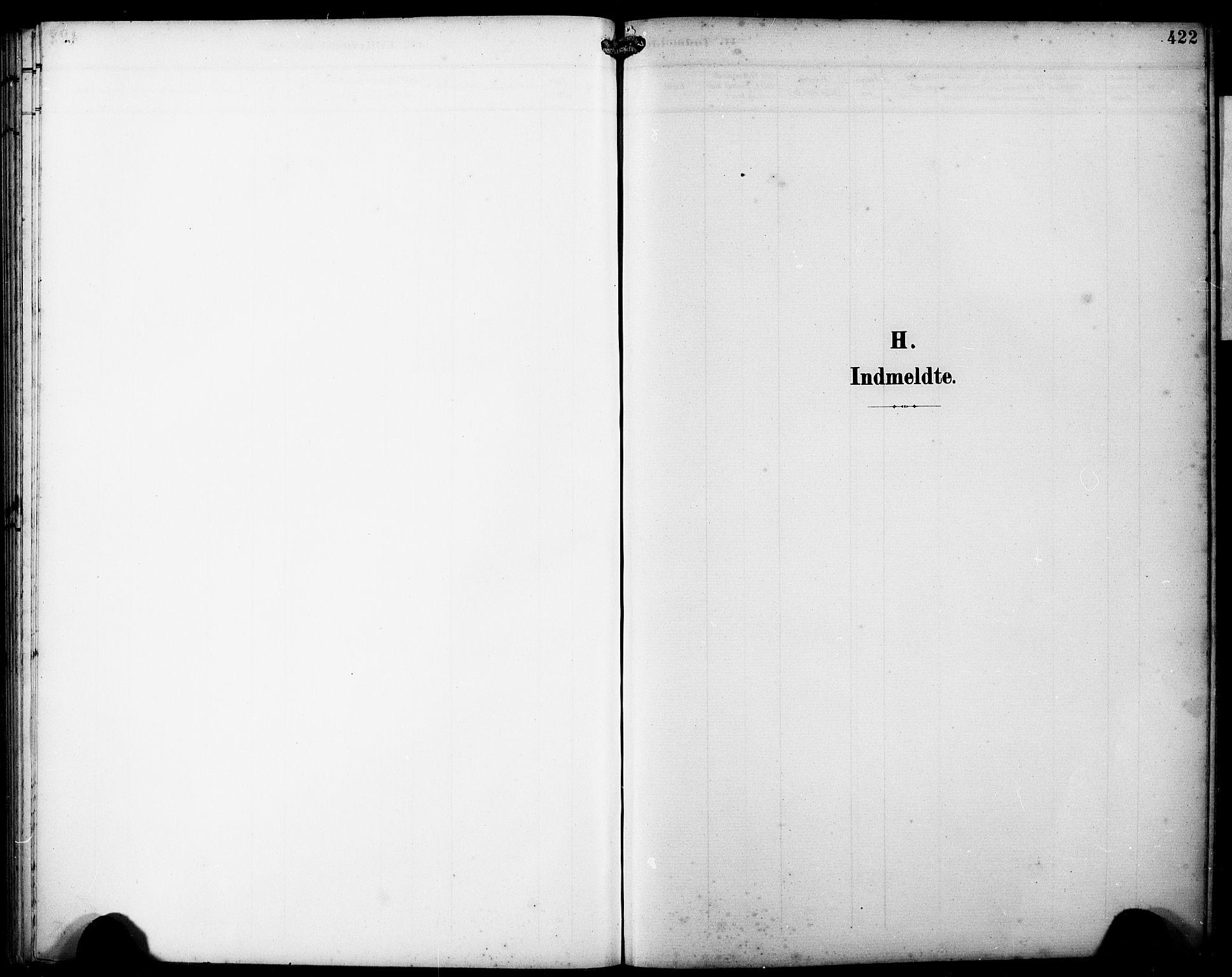 SAB, Fjell sokneprestembete, H/Hab: Klokkerbok nr. A 5, 1899-1918, s. 422