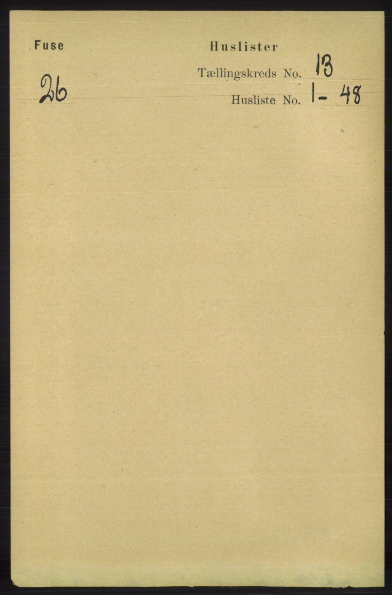 RA, Folketelling 1891 for 1241 Fusa herred, 1891, s. 2791