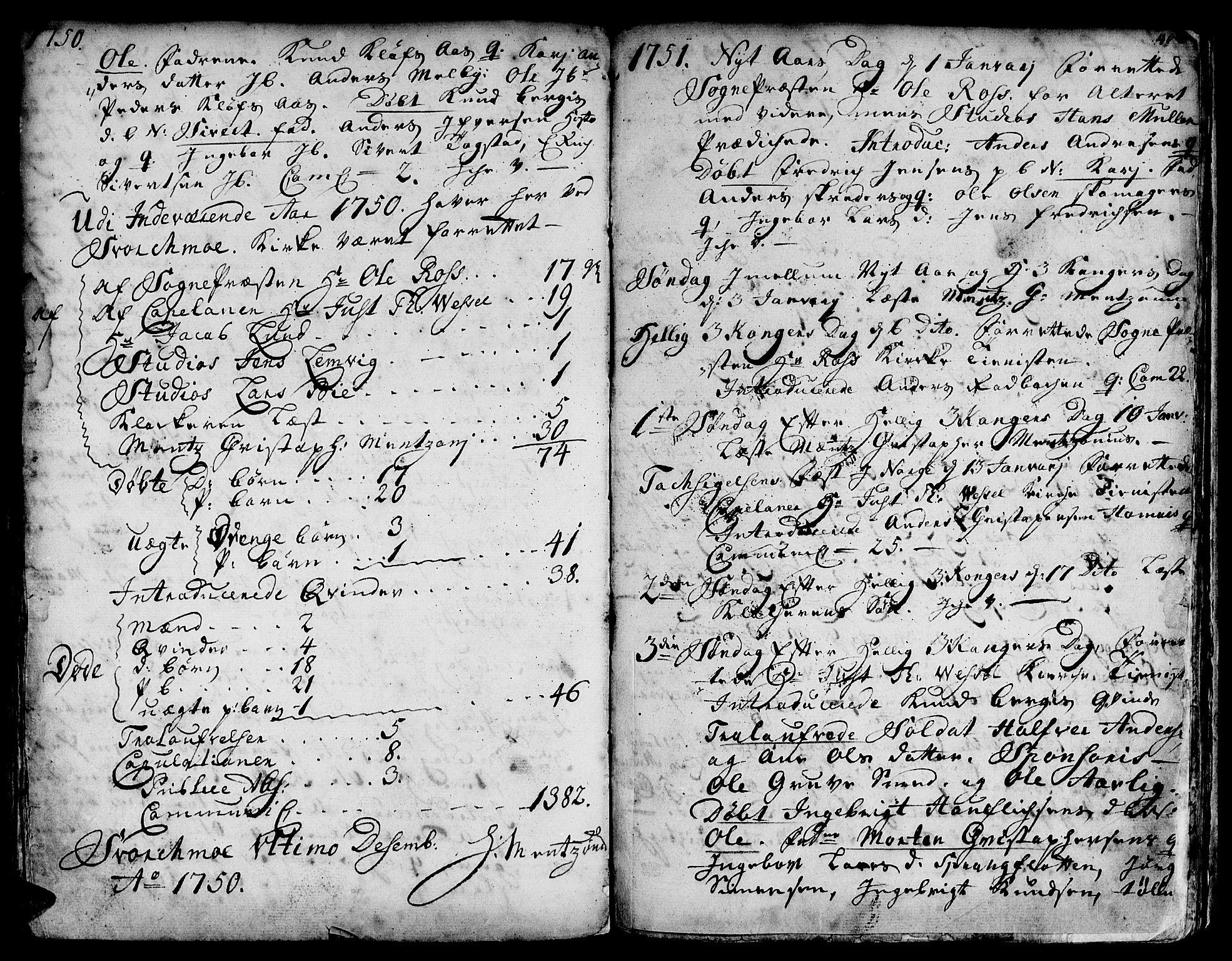 SAT, Ministerialprotokoller, klokkerbøker og fødselsregistre - Sør-Trøndelag, 671/L0839: Ministerialbok nr. 671A01, 1730-1755, s. 405-406