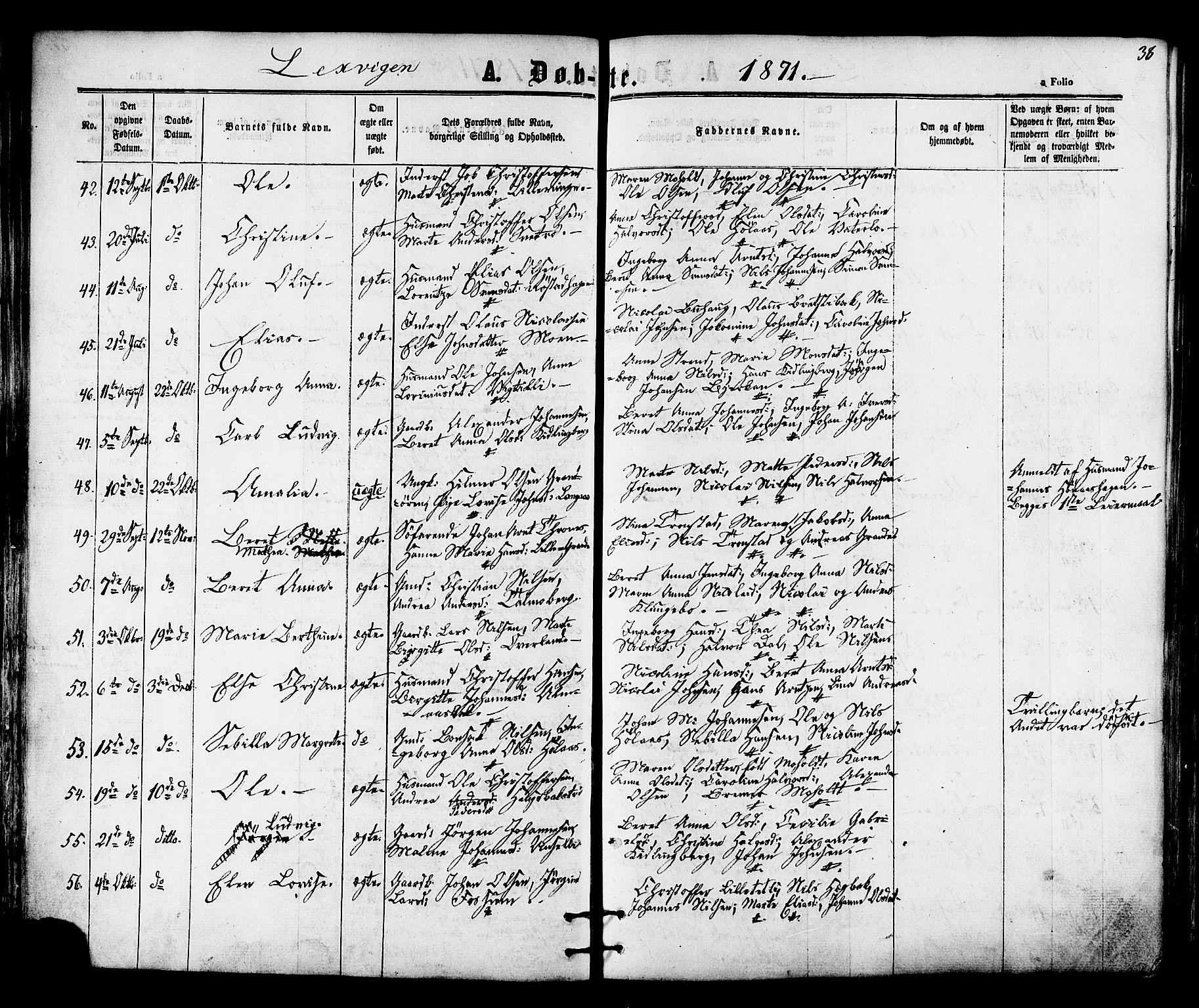 SAT, Ministerialprotokoller, klokkerbøker og fødselsregistre - Nord-Trøndelag, 701/L0009: Ministerialbok nr. 701A09 /1, 1864-1882, s. 38