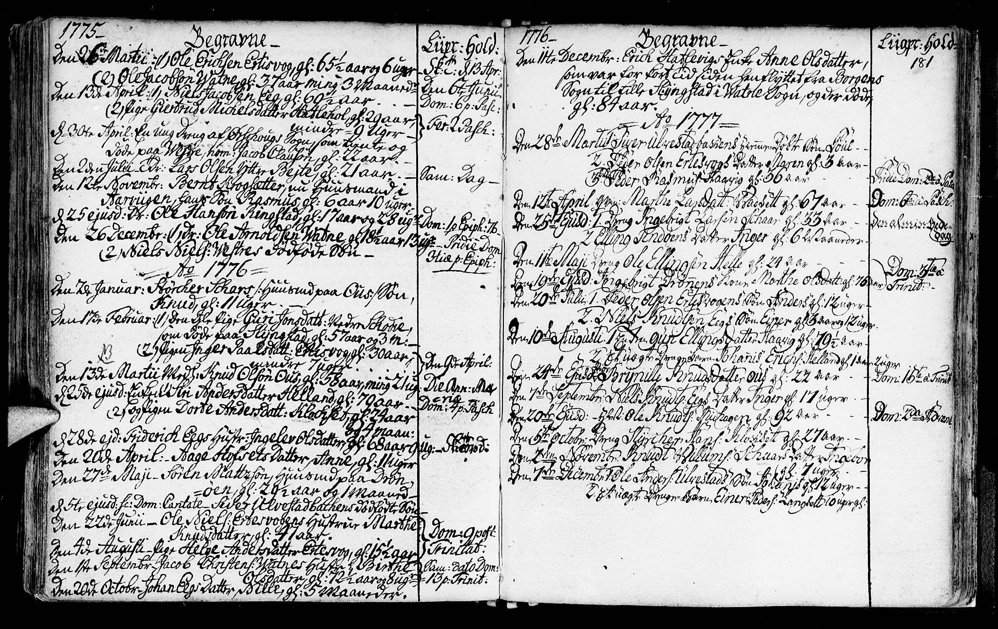 SAT, Ministerialprotokoller, klokkerbøker og fødselsregistre - Møre og Romsdal, 525/L0371: Ministerialbok nr. 525A01, 1699-1777, s. 181