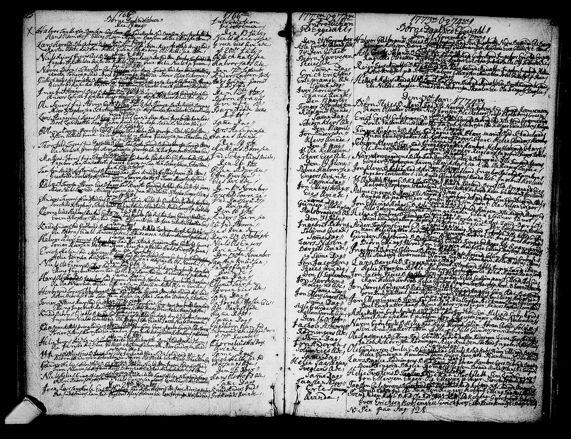 SAKO, Sigdal kirkebøker, F/Fa/L0001: Ministerialbok nr. I 1, 1722-1777, s. 125-126
