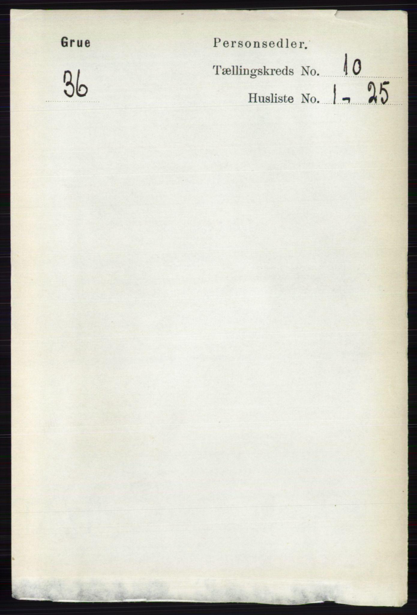 RA, Folketelling 1891 for 0423 Grue herred, 1891, s. 5362