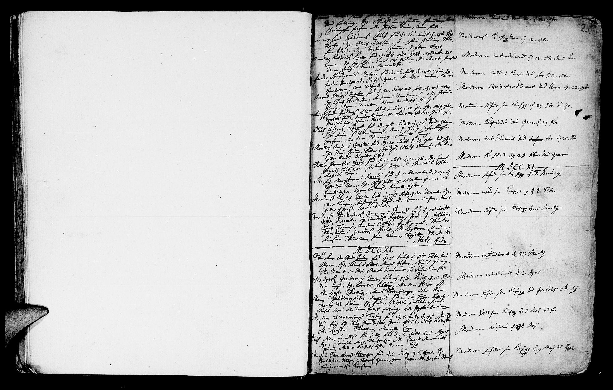 SAT, Ministerialprotokoller, klokkerbøker og fødselsregistre - Nord-Trøndelag, 746/L0439: Ministerialbok nr. 746A01, 1688-1759, s. 25