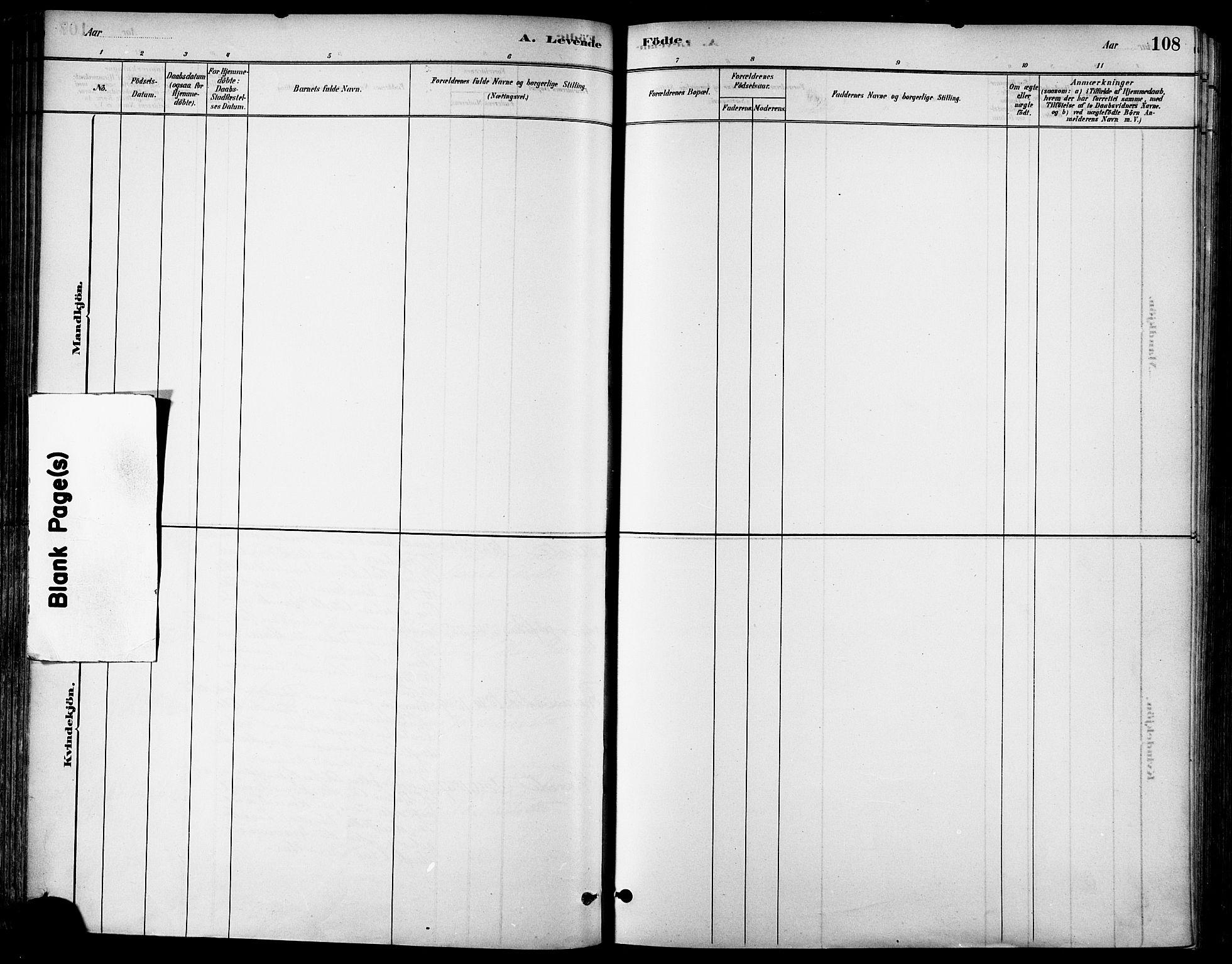 SAT, Ministerialprotokoller, klokkerbøker og fødselsregistre - Sør-Trøndelag, 678/L0901: Ministerialbok nr. 678A10, 1881-1894, s. 108