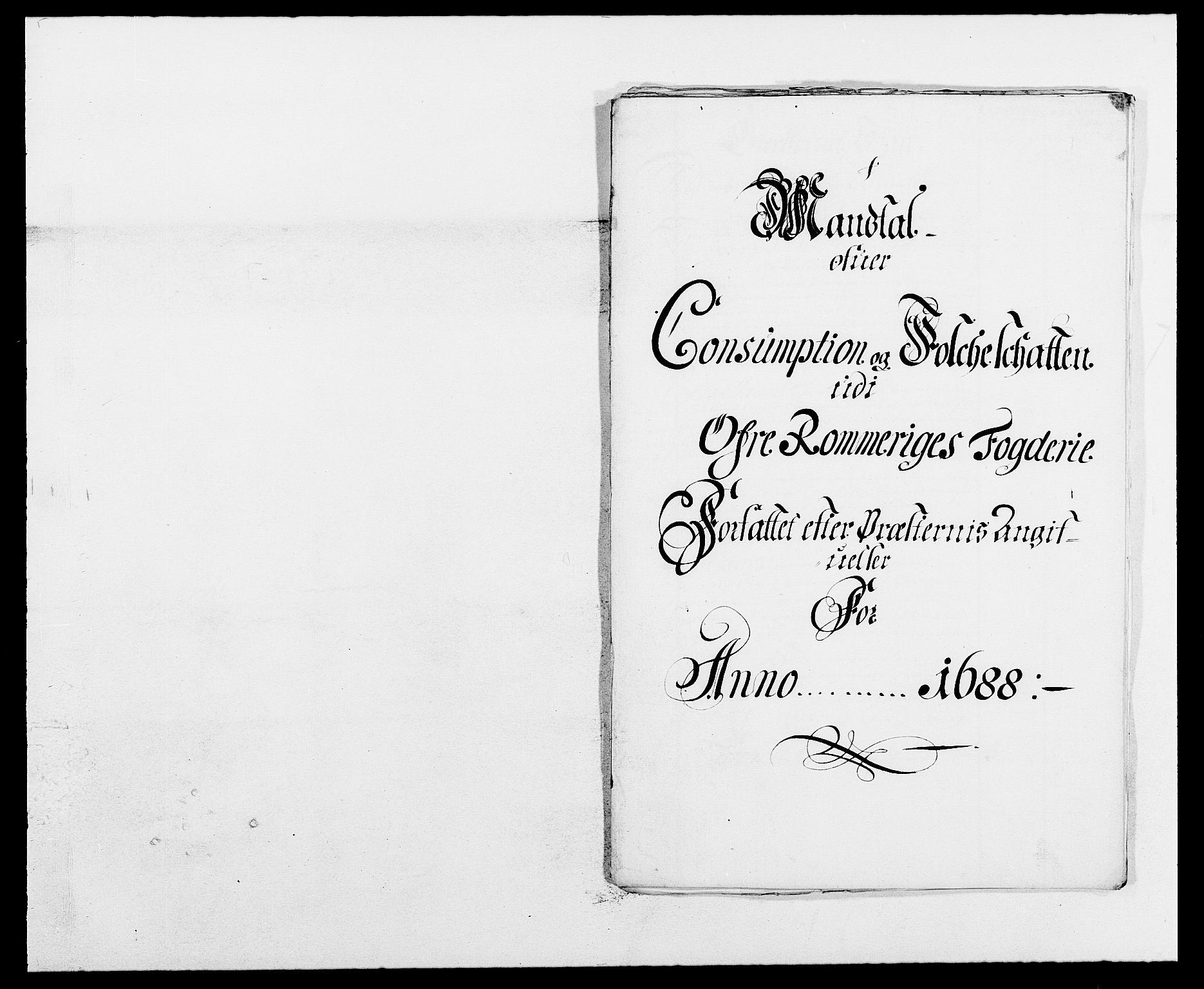 RA, Rentekammeret inntil 1814, Reviderte regnskaper, Fogderegnskap, R12/L0700: Fogderegnskap Øvre Romerike, 1687-1688, s. 424