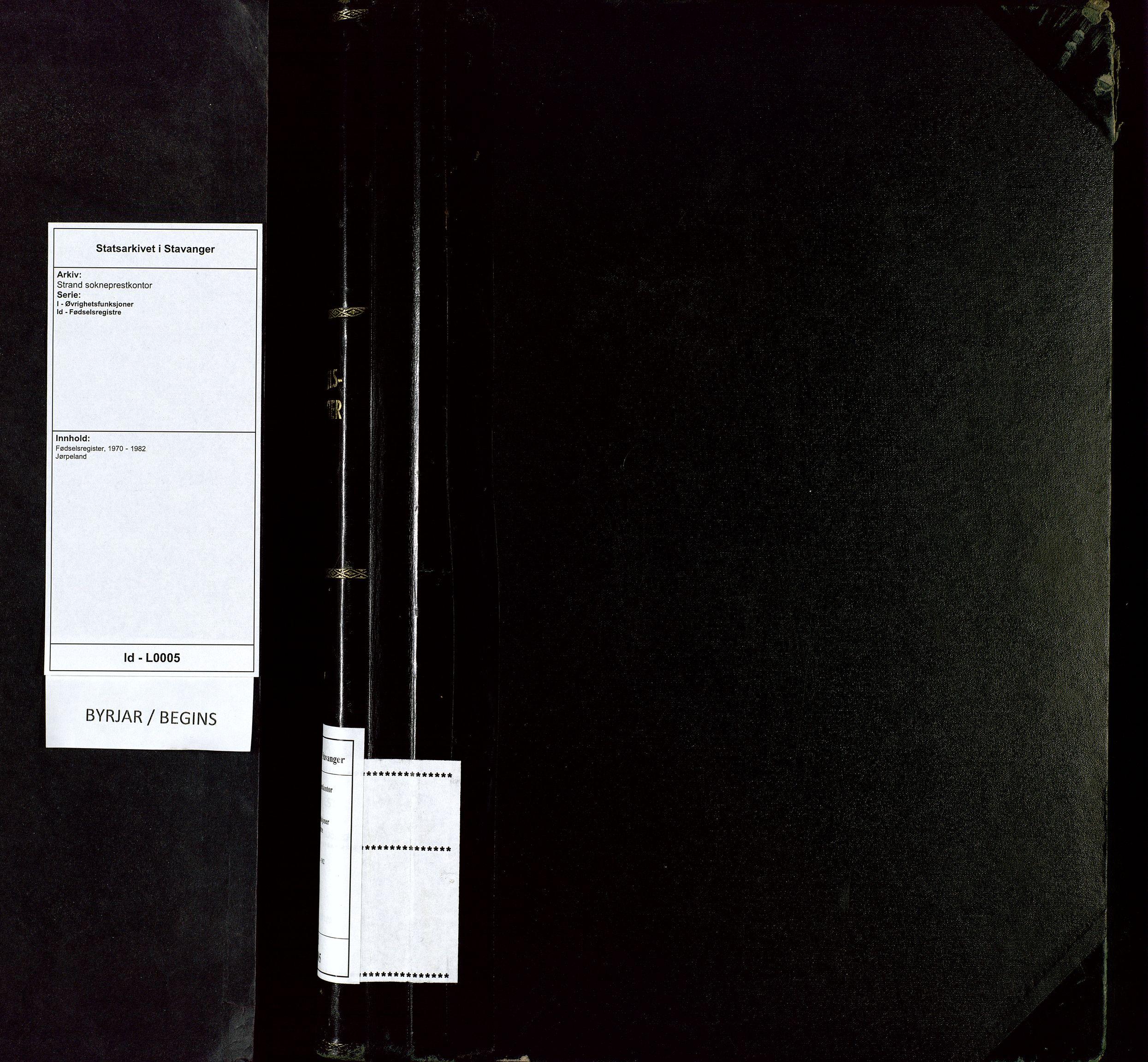 SAST, Strand sokneprestkontor, I/Id/L0005: Fødselsregister nr. 5, 1970-1982