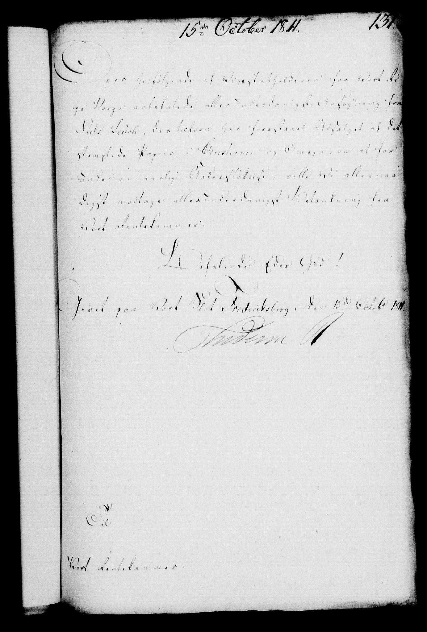 RA, Rentekammeret, Kammerkanselliet, G/Gf/Gfa/L0093: Norsk relasjons- og resolusjonsprotokoll (merket RK 52.93), 1811, s. 527