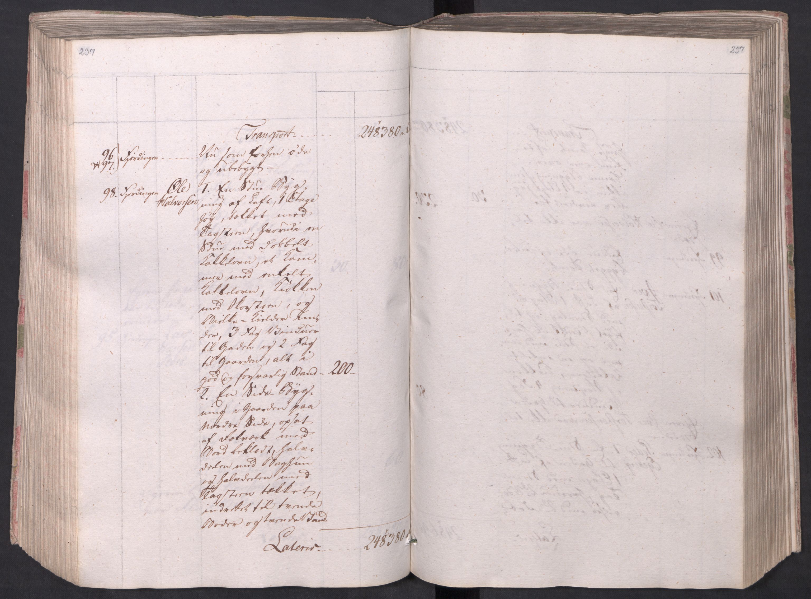 SAO, Kristiania stiftamt, I/Ia/L0015: Branntakster, 1797, s. 237