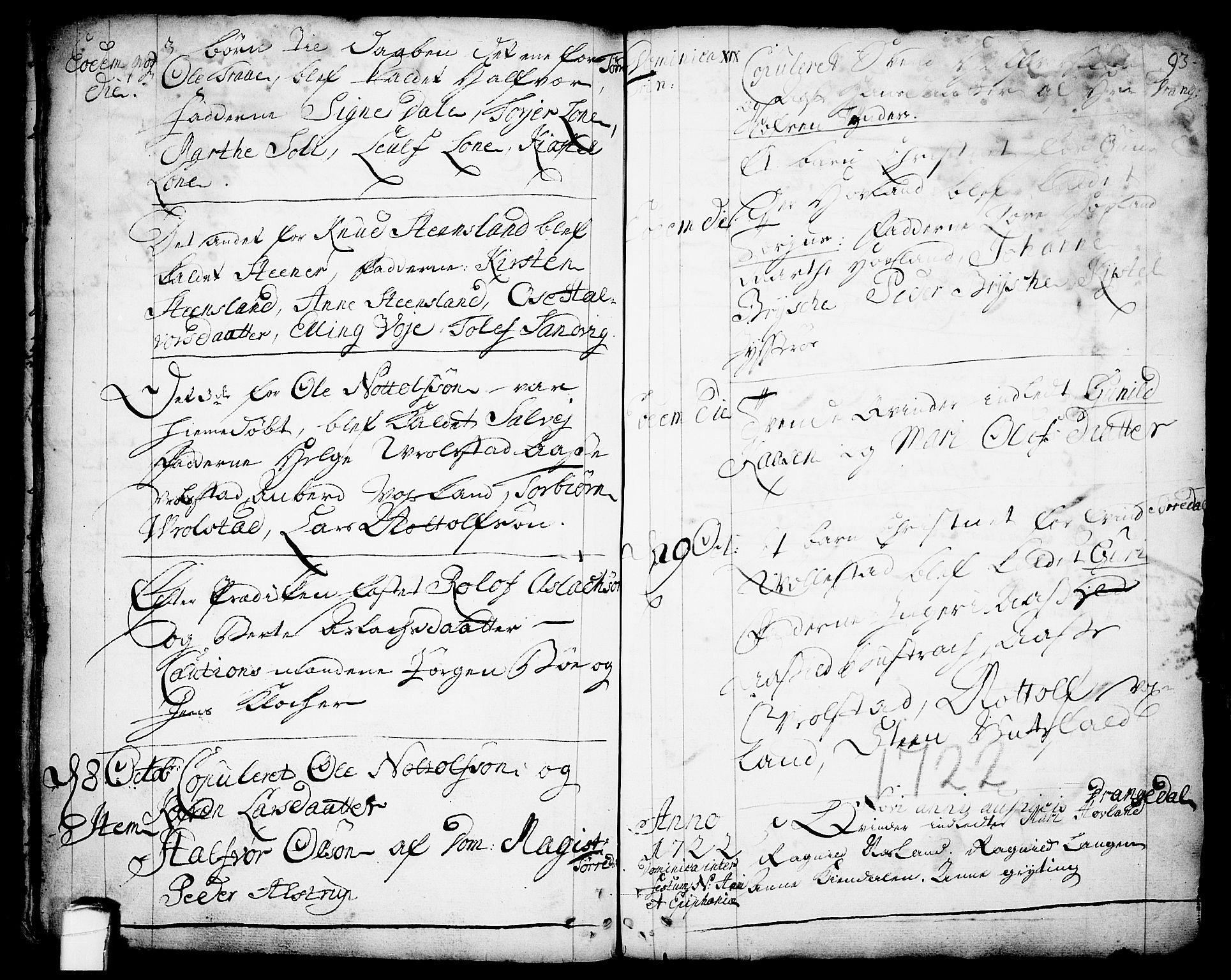 SAKO, Drangedal kirkebøker, F/Fa/L0001: Ministerialbok nr. 1, 1697-1767, s. 93