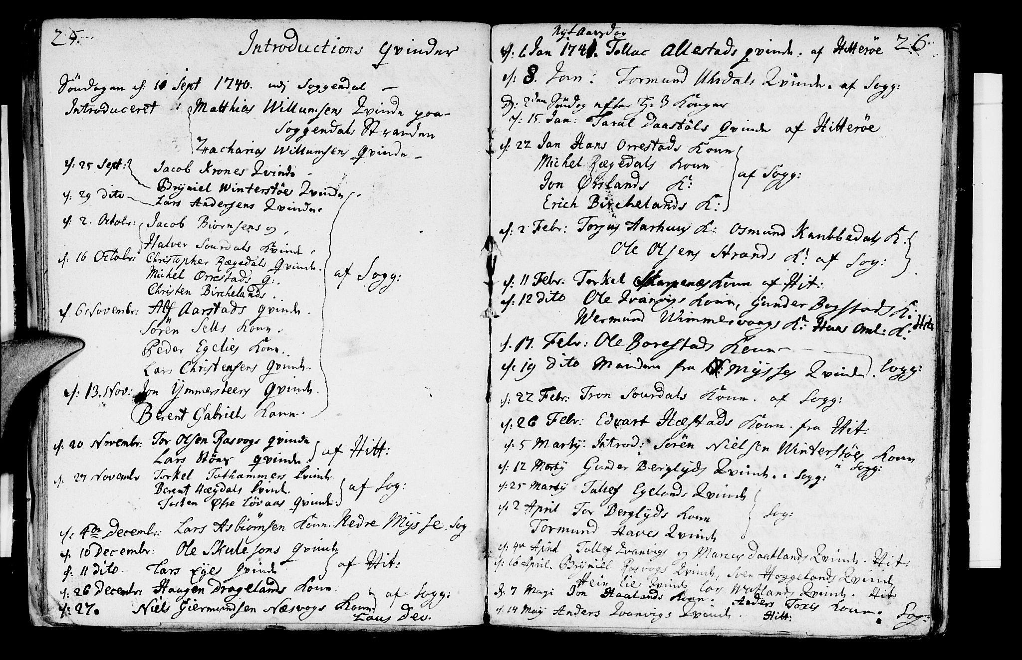 SAST, Sokndal sokneprestkontor, Ministerialbok nr. A 2, 1740-1743, s. 25-26
