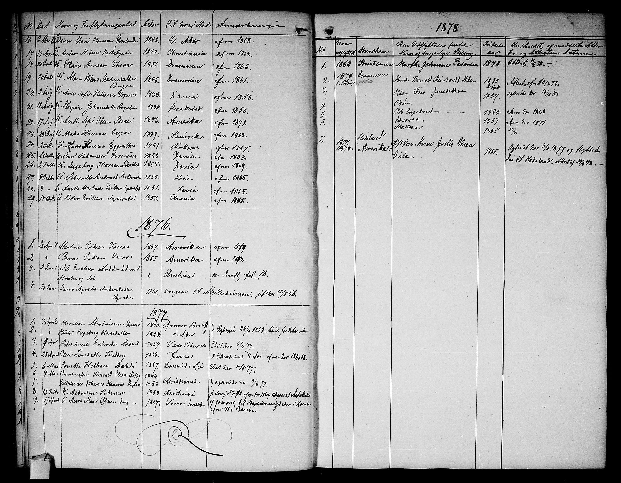 SAO, Asker prestekontor Kirkebøker, F/Fa/L0012: Ministerialbok nr. I 12, 1825-1878