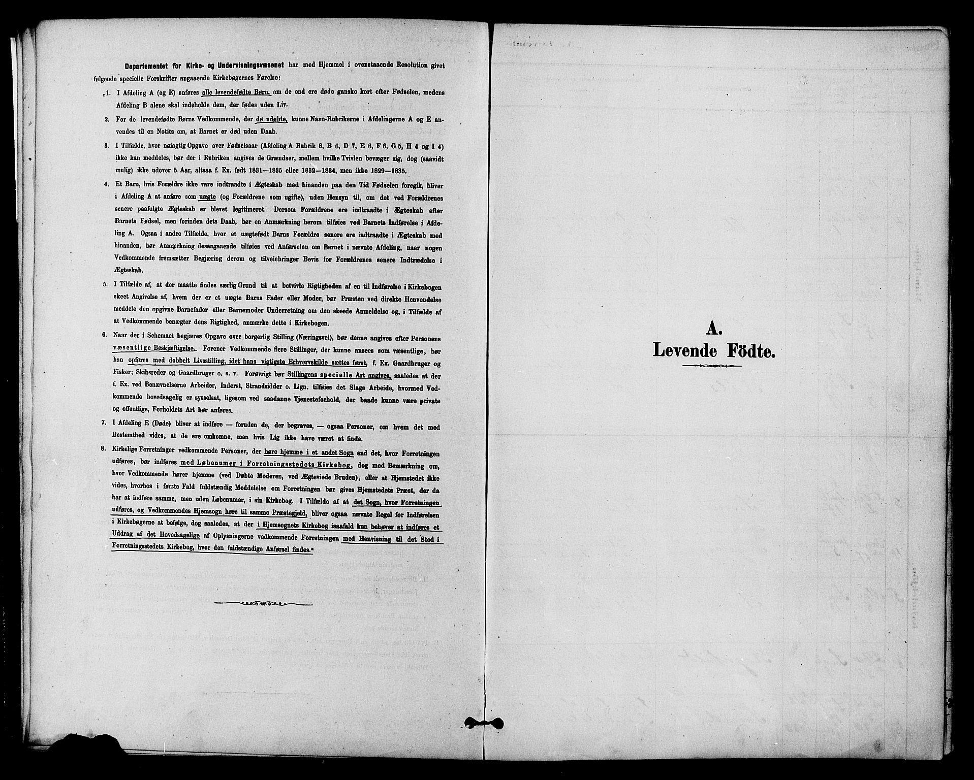 SAH, Vestre Slidre prestekontor, Klokkerbok nr. 4, 1881-1912