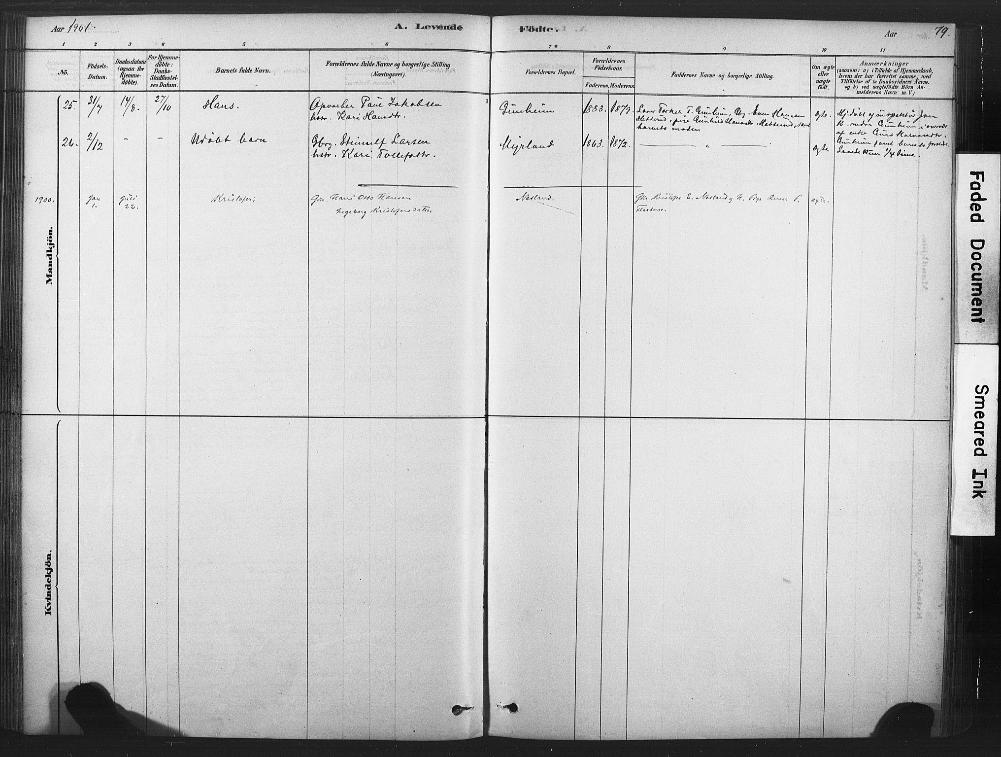 SAKO, Sauherad kirkebøker, F/Fb/L0002: Ministerialbok nr. II 2, 1878-1901, s. 79