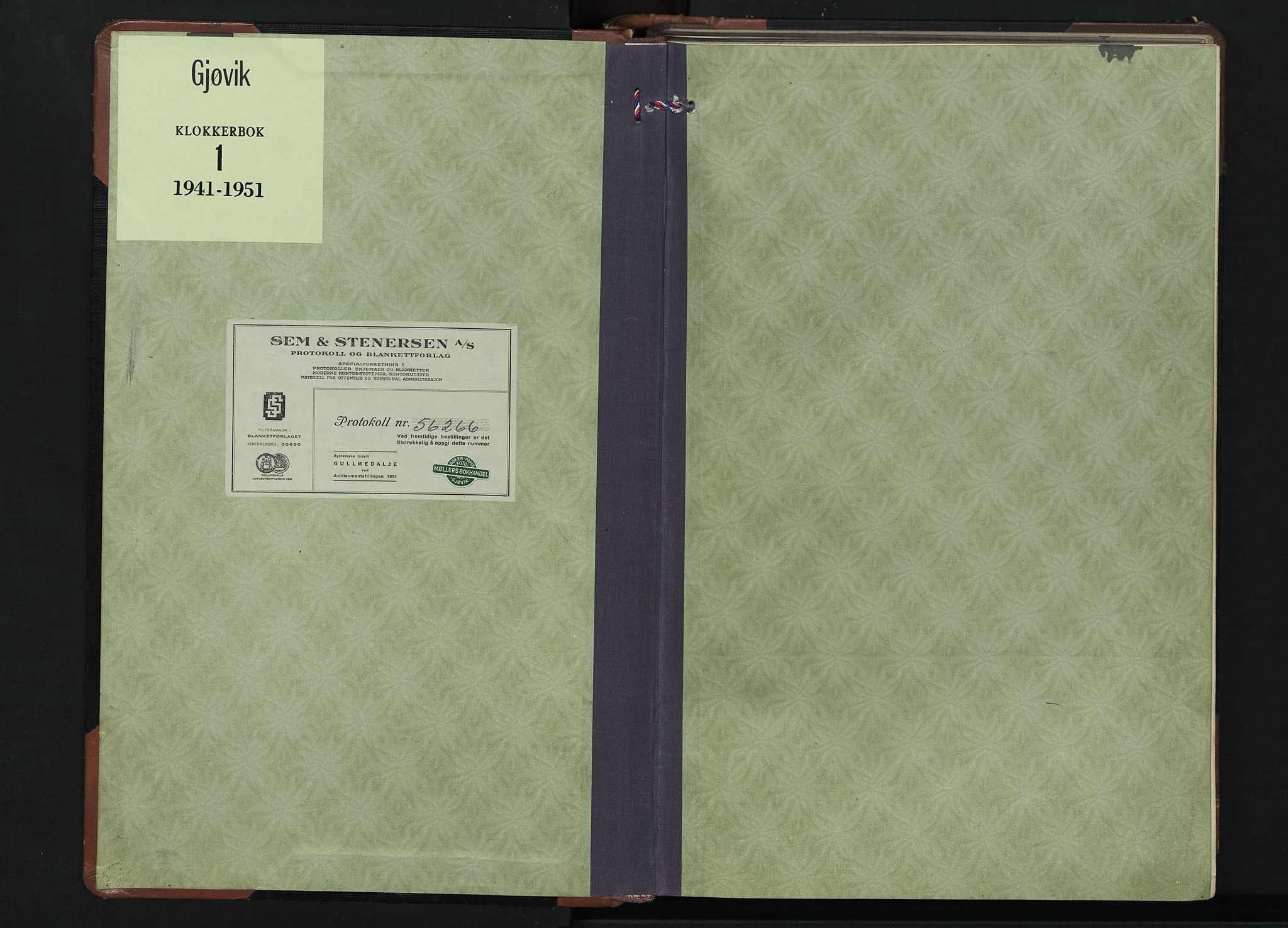 SAH, Gjøvik prestekontor, Klokkerbok nr. 1, 1941-1951