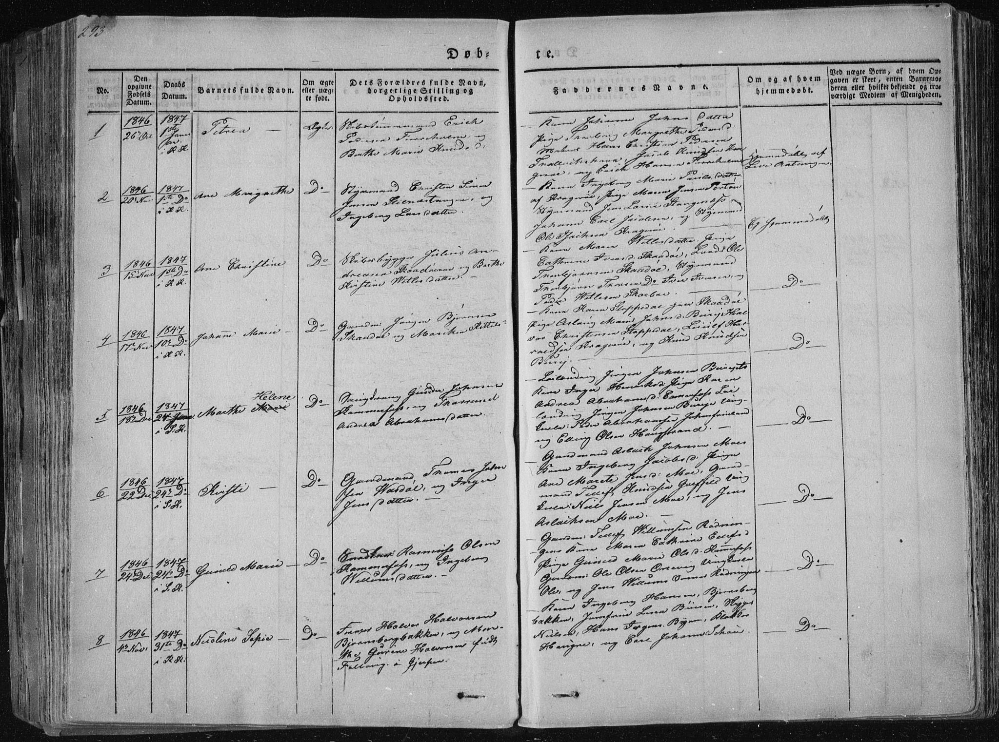 SAKO, Sannidal kirkebøker, F/Fa/L0006: Ministerialbok nr. 6, 1831-1847, s. 293