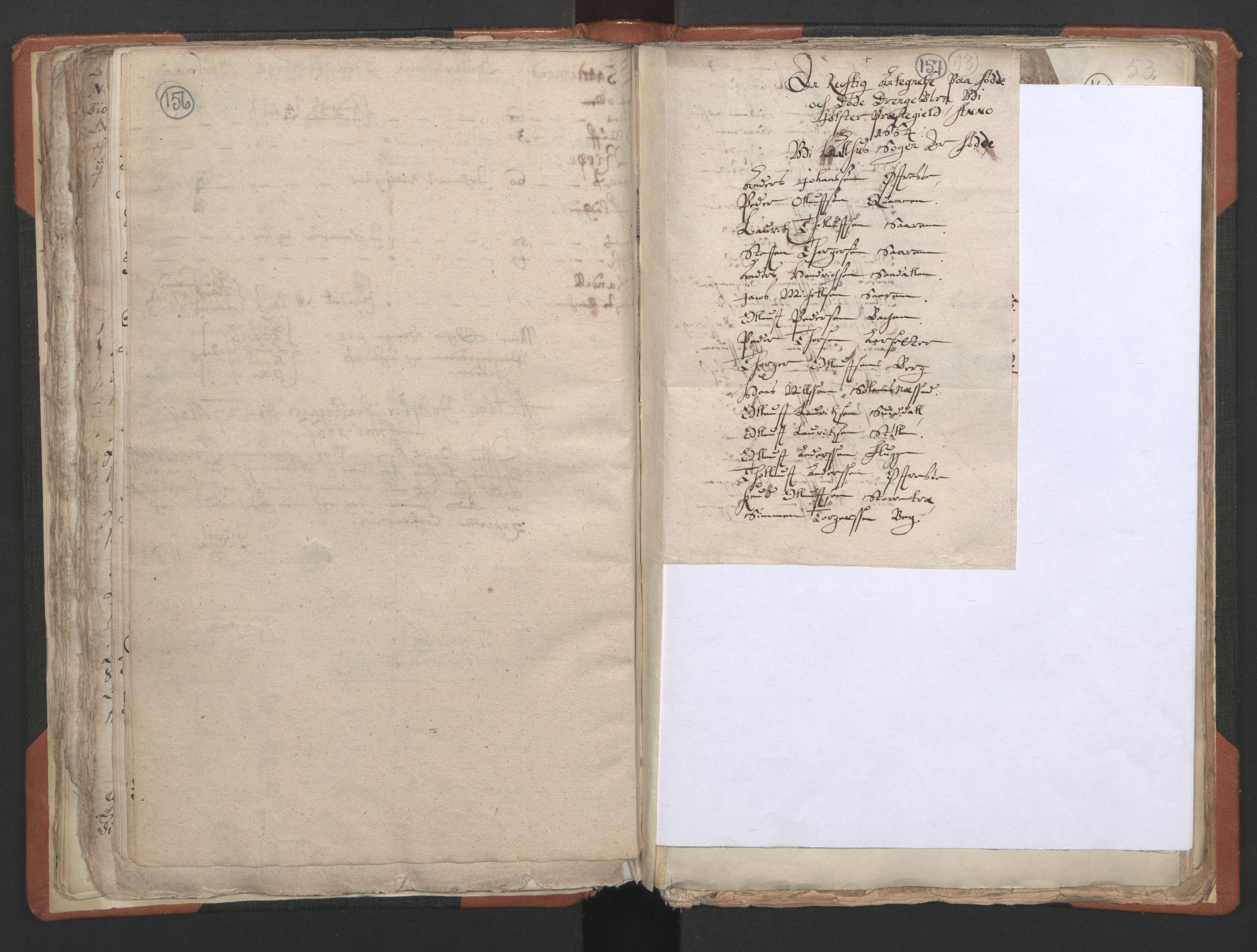 RA, Sogneprestenes manntall 1664-1666, nr. 24: Sunnfjord prosti, 1664-1666, s. 156-157