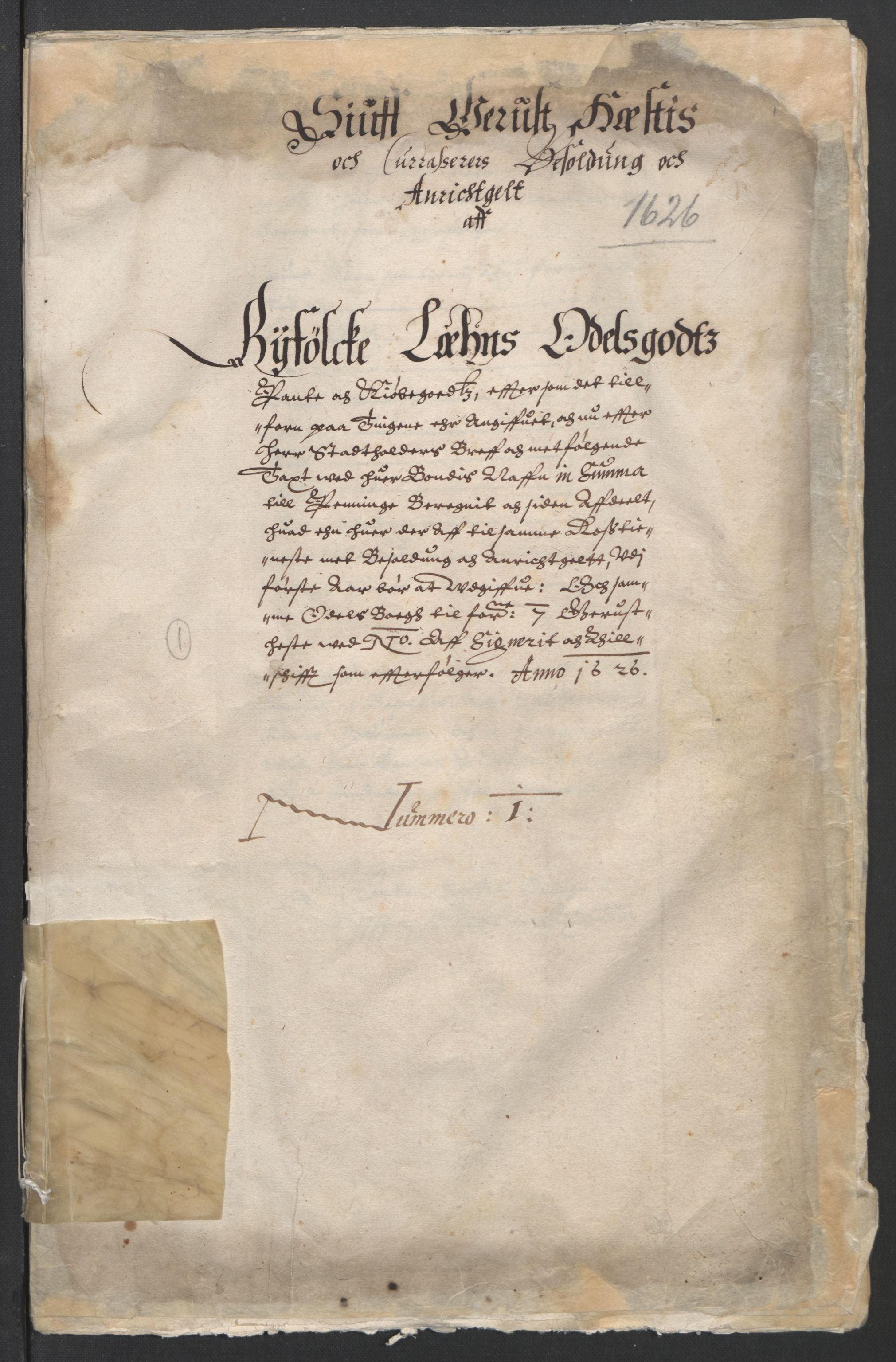 RA, Stattholderembetet 1572-1771, Ek/L0010: Jordebøker til utlikning av rosstjeneste 1624-1626:, 1624-1626, s. 66