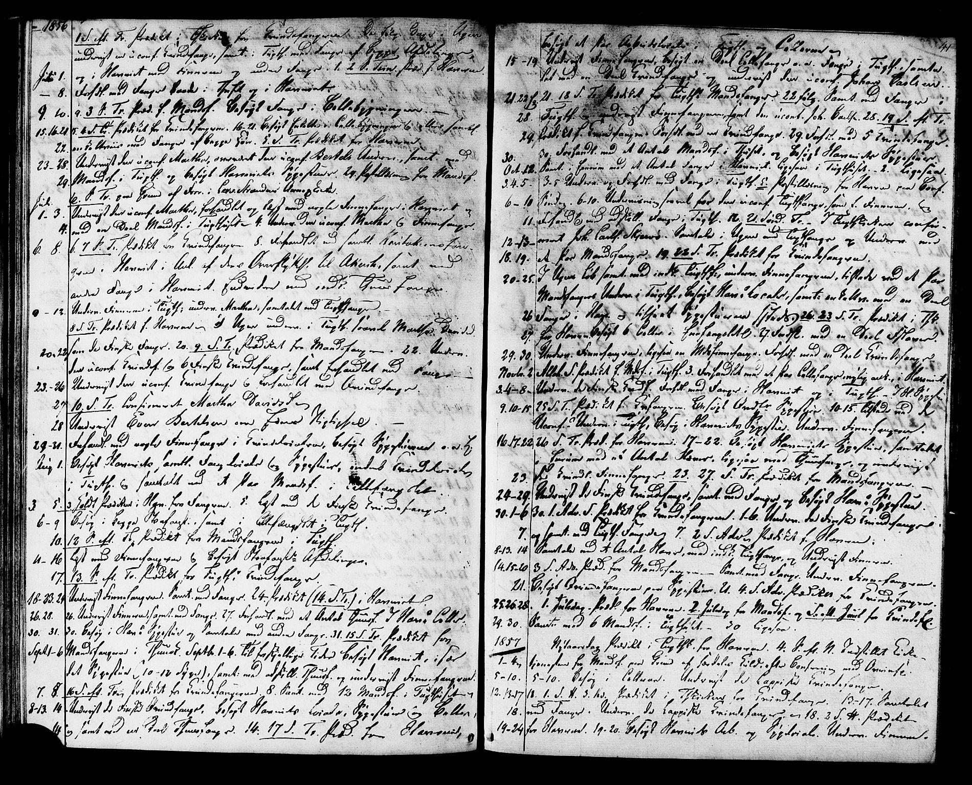 SAT, Ministerialprotokoller, klokkerbøker og fødselsregistre - Sør-Trøndelag, 624/L0481: Ministerialbok nr. 624A02, 1841-1869, s. 41