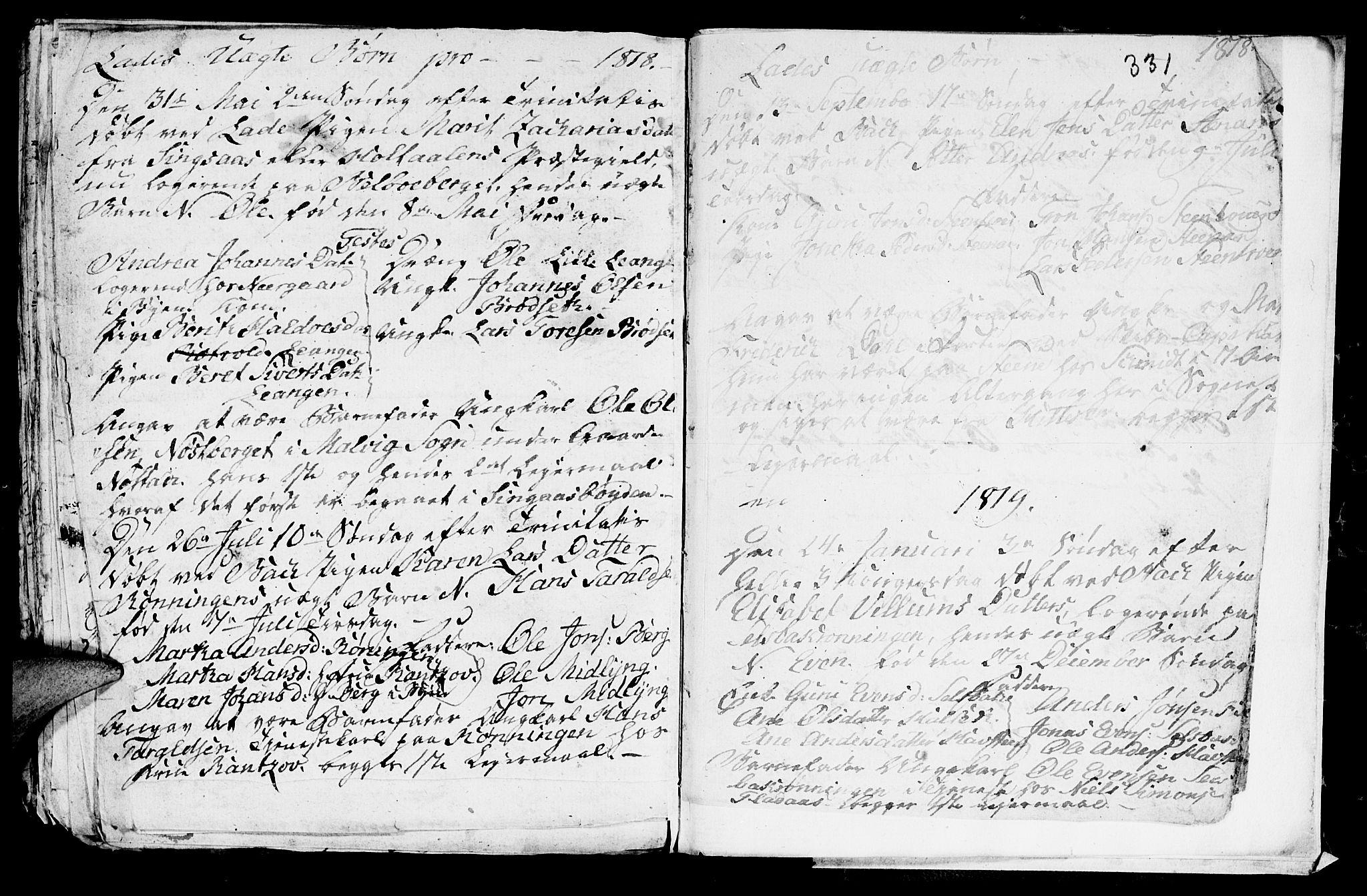 SAT, Ministerialprotokoller, klokkerbøker og fødselsregistre - Sør-Trøndelag, 606/L0305: Klokkerbok nr. 606C01, 1757-1819, s. 331
