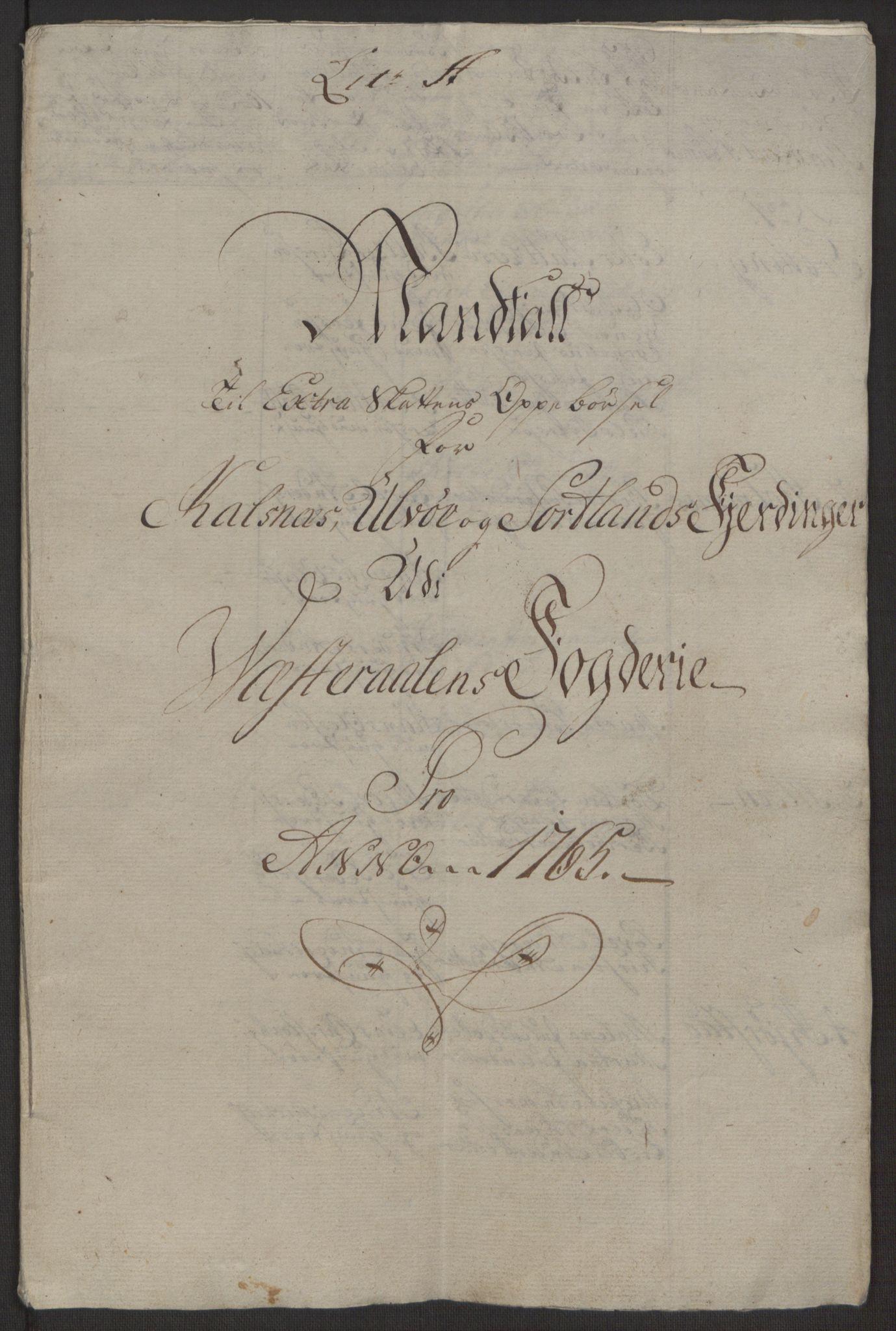 RA, Rentekammeret inntil 1814, Realistisk ordnet avdeling, Ol/L0022a: [Gg 10]: Ekstraskatten, 23.09.1762. Nordlands amt, 1763-1769, s. 34