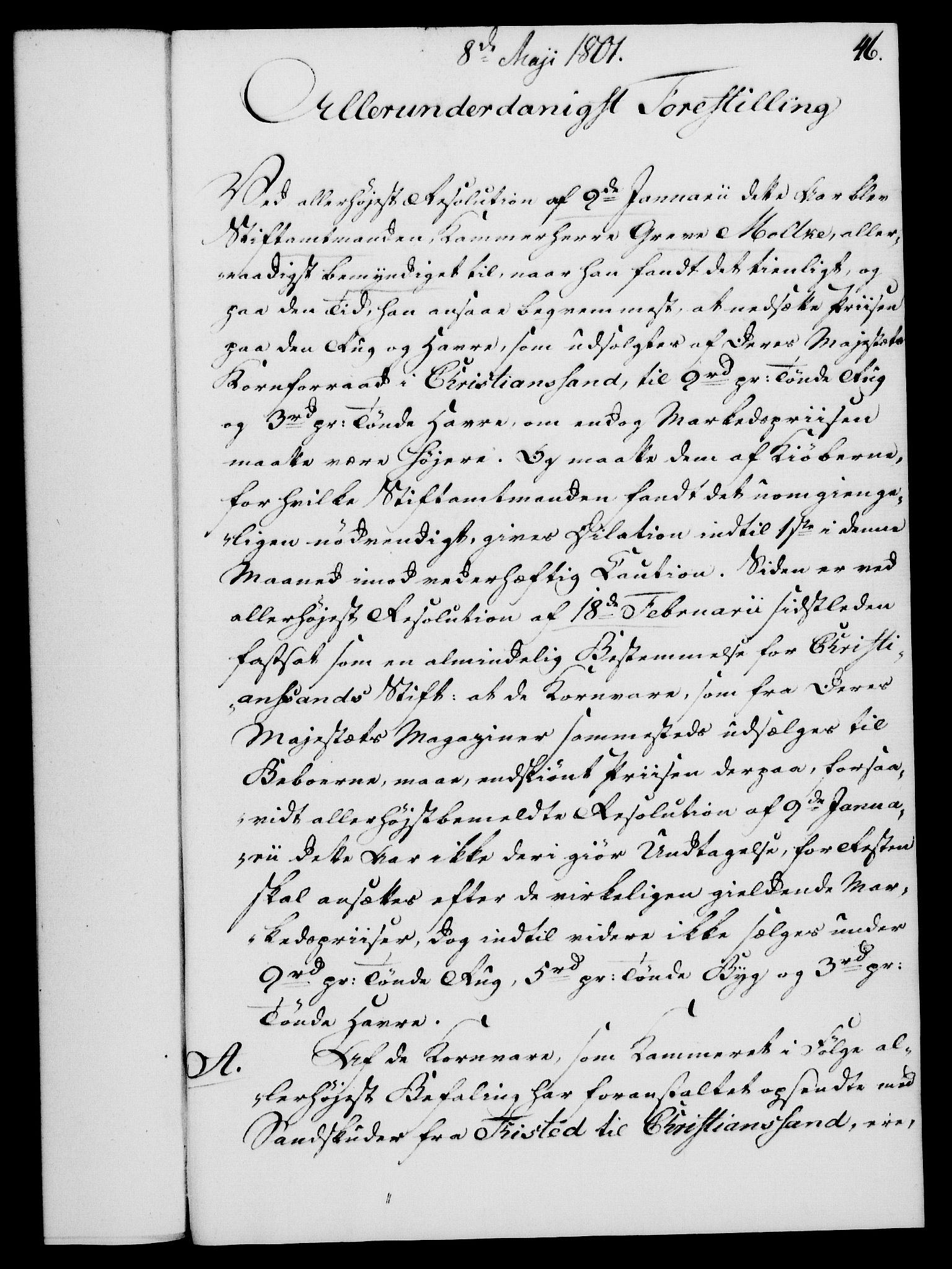 RA, Rentekammeret, Kammerkanselliet, G/Gf/Gfa/L0083: Norsk relasjons- og resolusjonsprotokoll (merket RK 52.83), 1801, s. 286