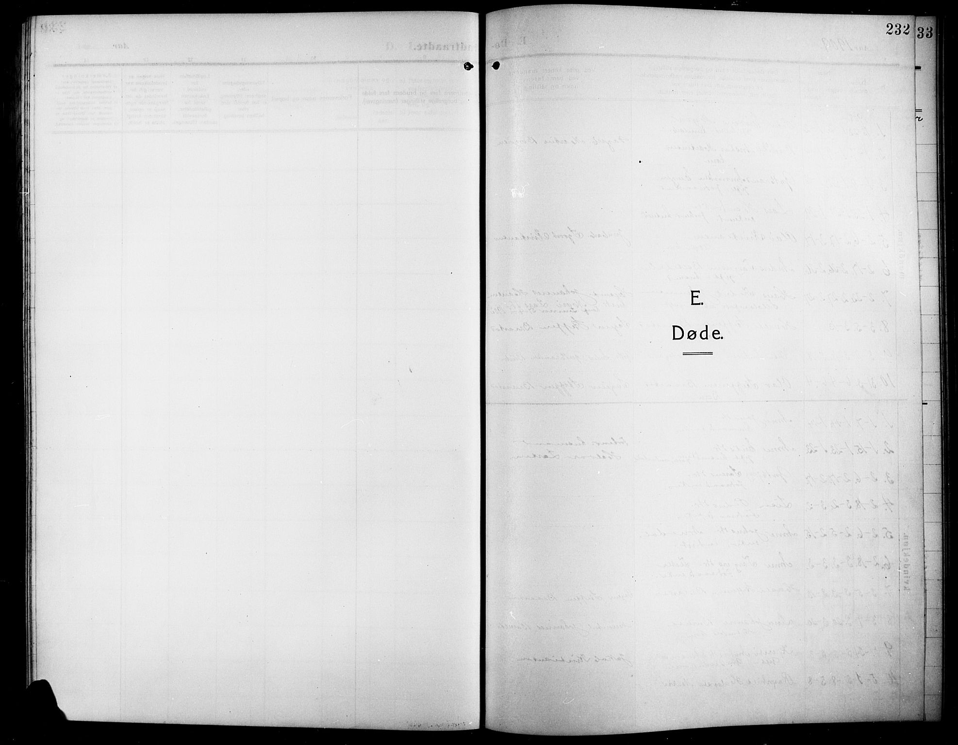 SAH, Lunner prestekontor, H/Ha/Hab/L0001: Klokkerbok nr. 1, 1909-1922, s. 232