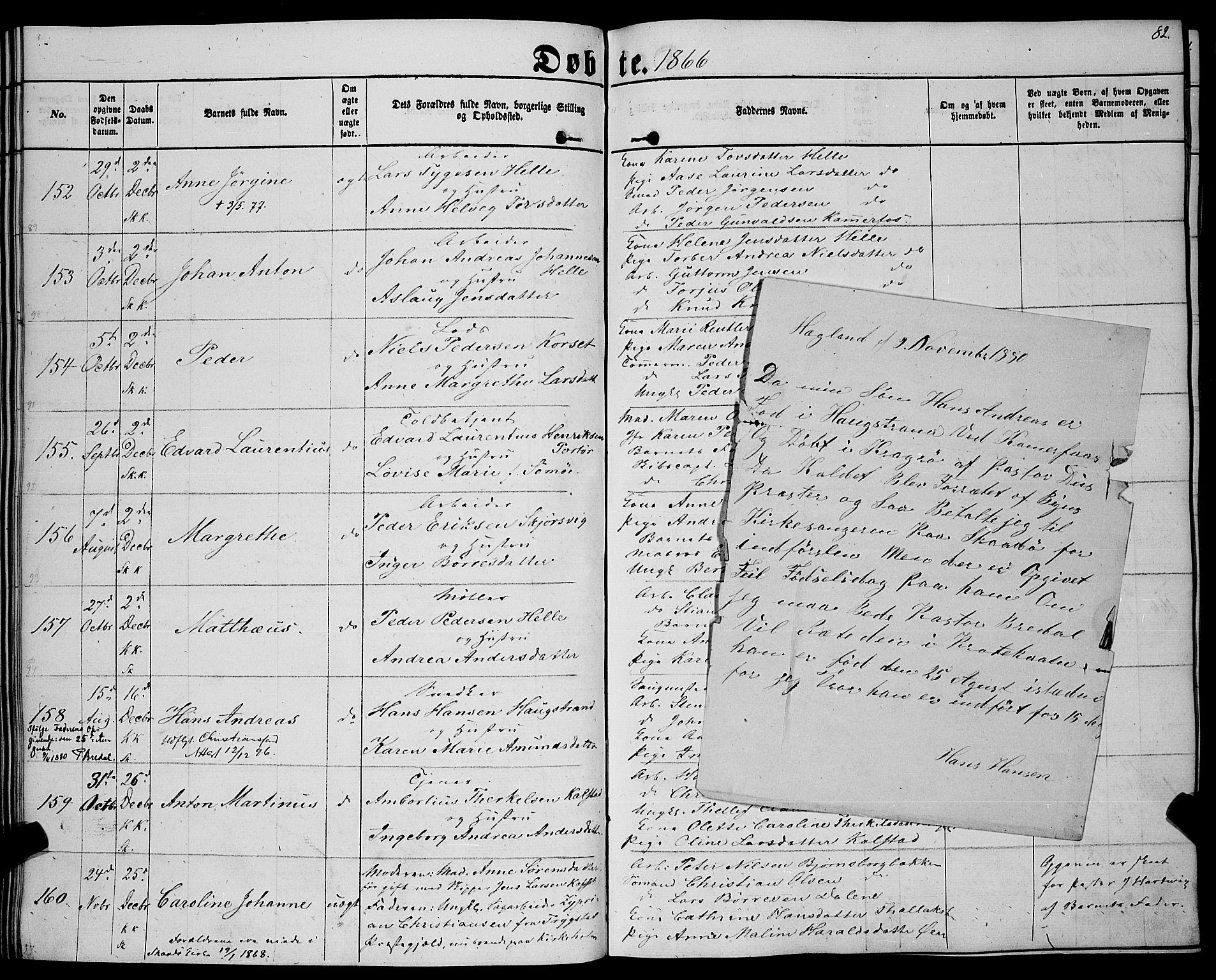 SAKO, Sannidal kirkebøker, F/Fa/L0011: Ministerialbok nr. 11, 1863-1873, s. 82