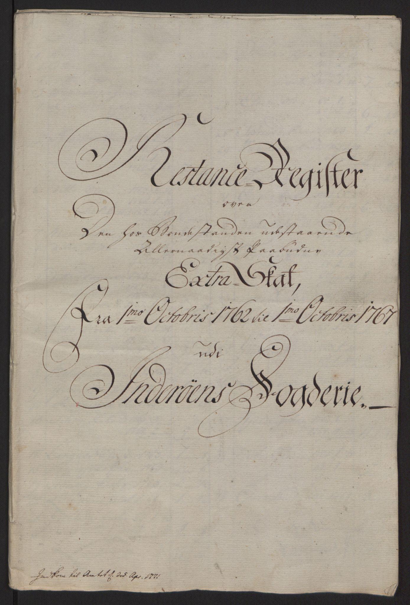 RA, Rentekammeret inntil 1814, Reviderte regnskaper, Fogderegnskap, R63/L4420: Ekstraskatten Inderøy, 1762-1772, s. 446