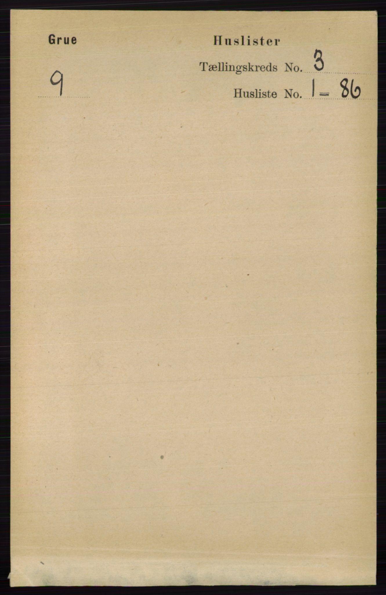 RA, Folketelling 1891 for 0423 Grue herred, 1891, s. 1453