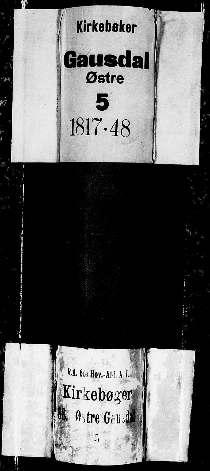 SAH, Gausdal prestekontor, Klokkerbok nr. 1, 1817-1848