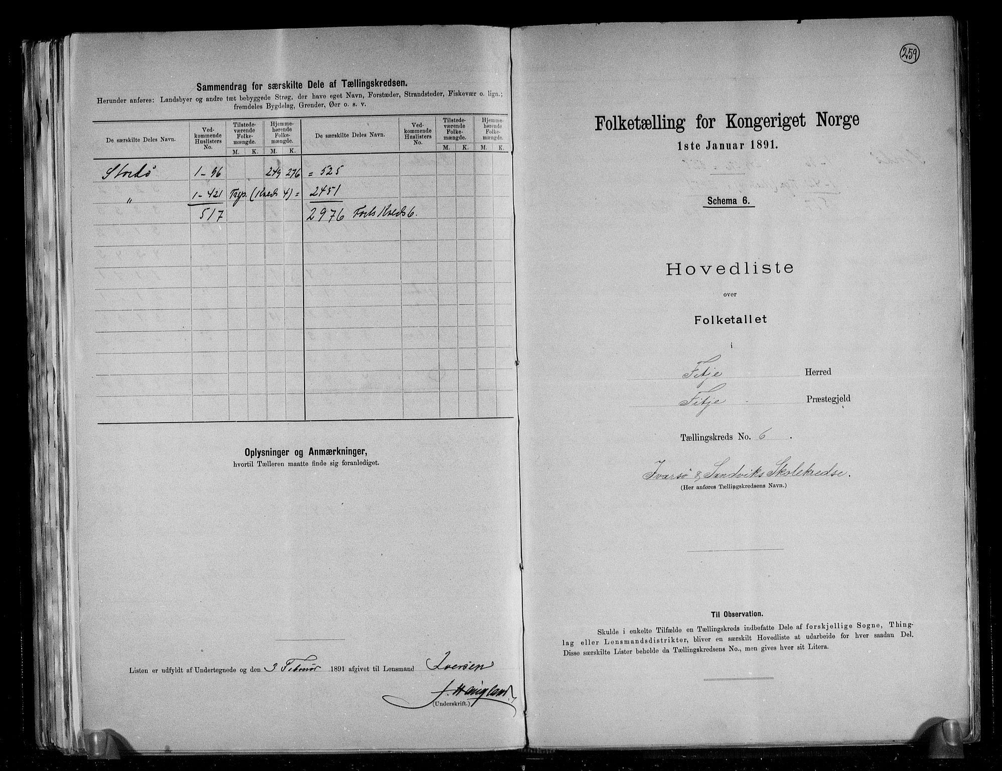 RA, Folketelling 1891 for 1222 Fitjar herred, 1891, s. 14