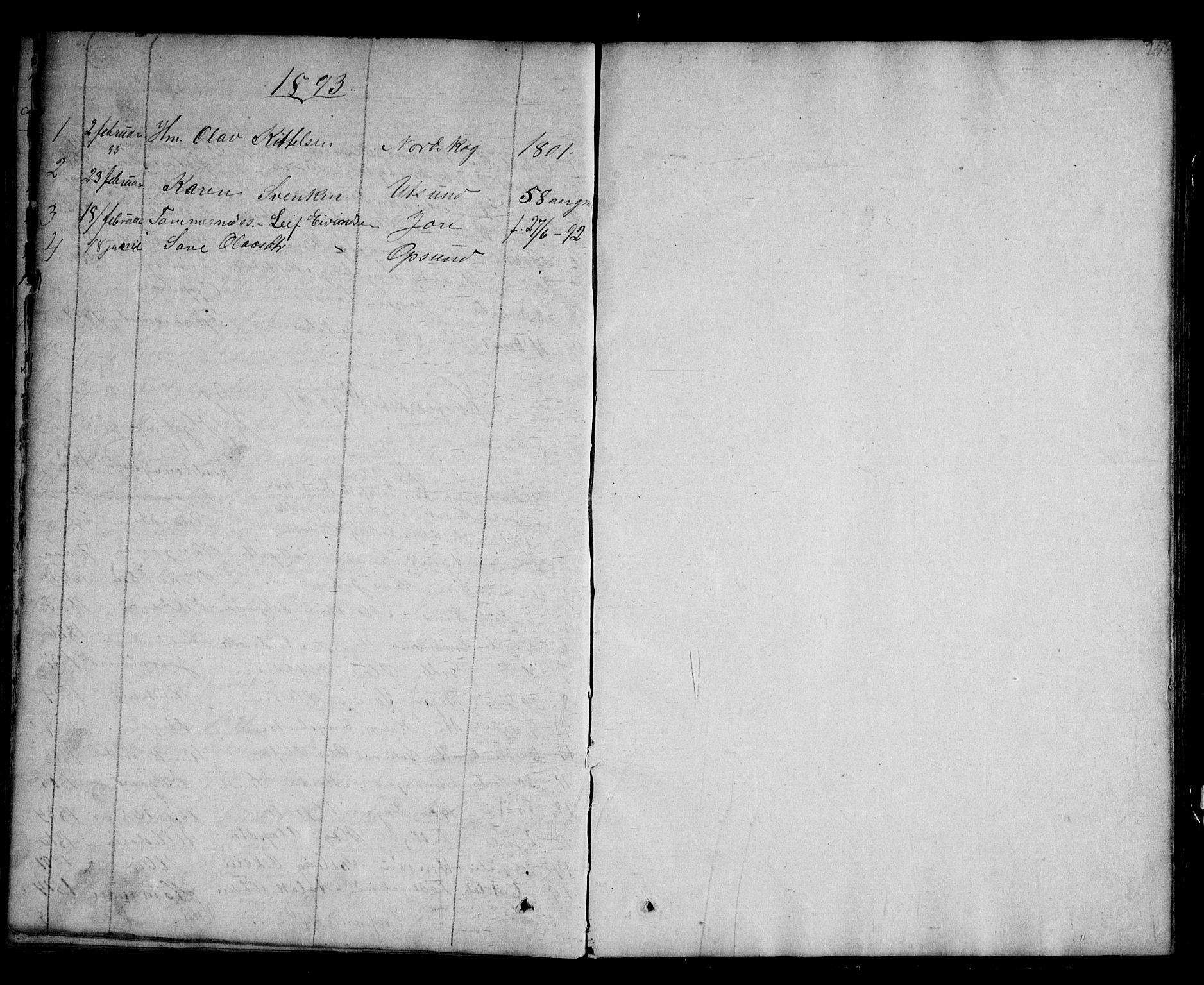 SAKO, Kviteseid kirkebøker, G/Ga/L0001: Klokkerbok nr. I 1, 1850-1893, s. 243