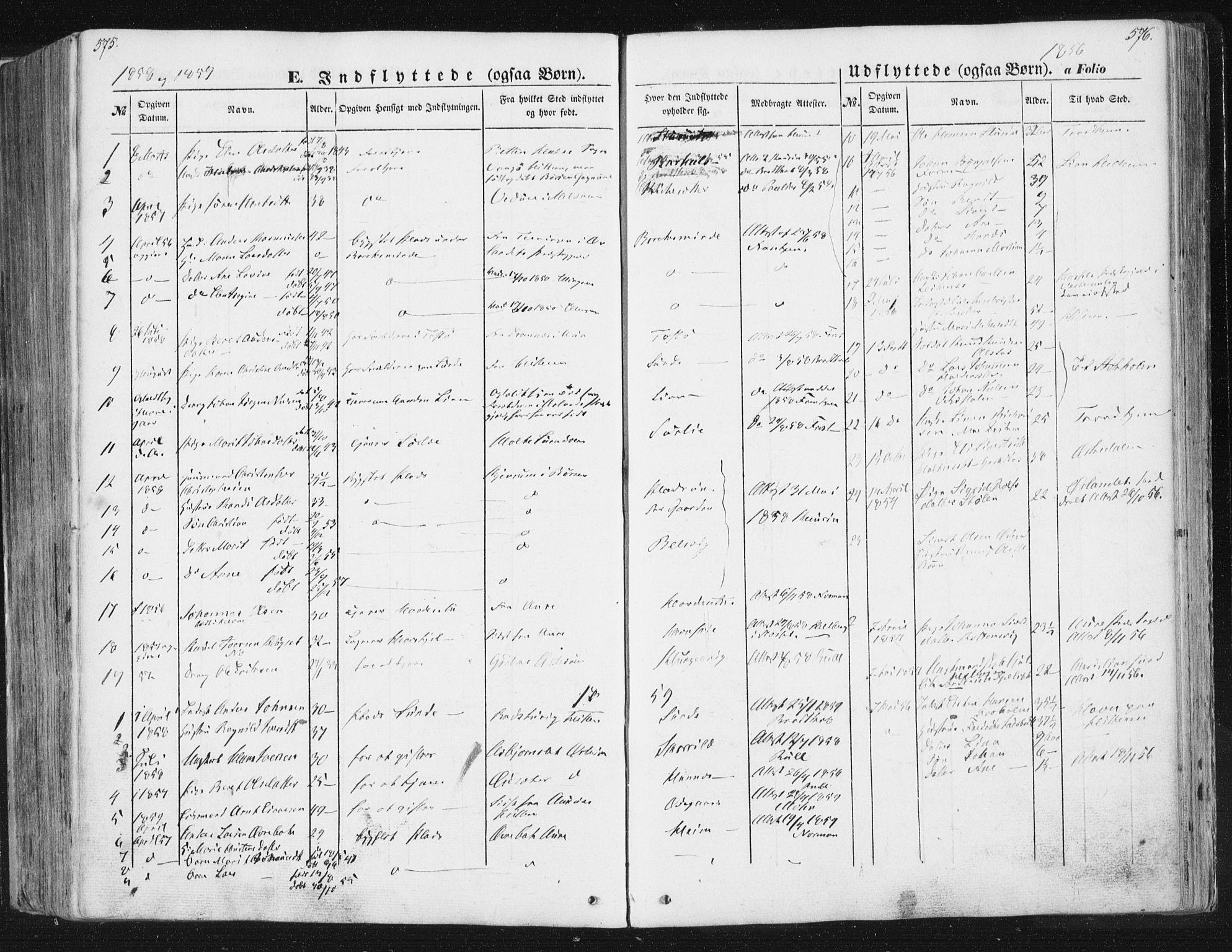 SAT, Ministerialprotokoller, klokkerbøker og fødselsregistre - Sør-Trøndelag, 630/L0494: Ministerialbok nr. 630A07, 1852-1868, s. 575-576
