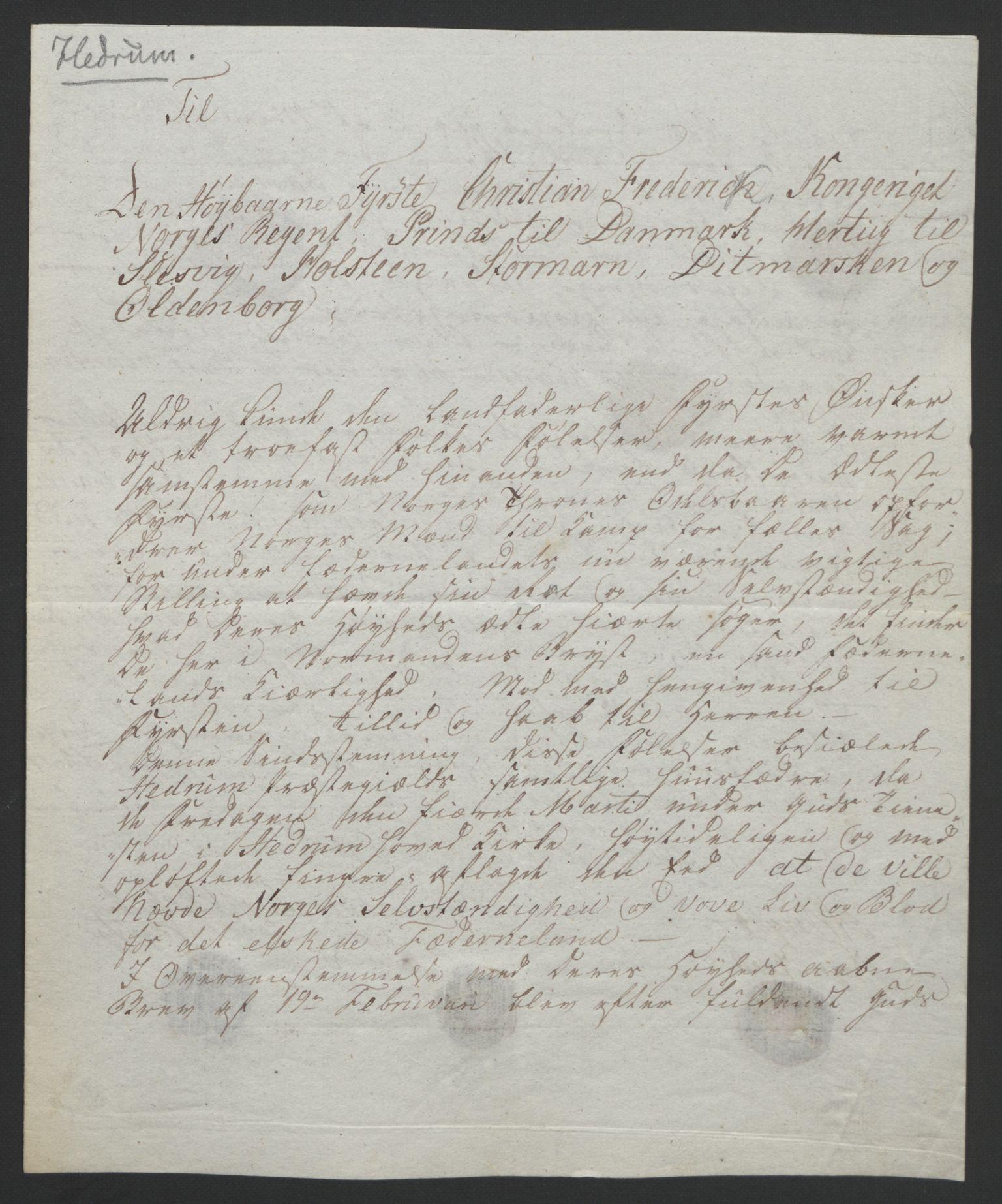 RA, Statsrådssekretariatet, D/Db/L0008: Fullmakter for Eidsvollsrepresentantene i 1814. , 1814, s. 32
